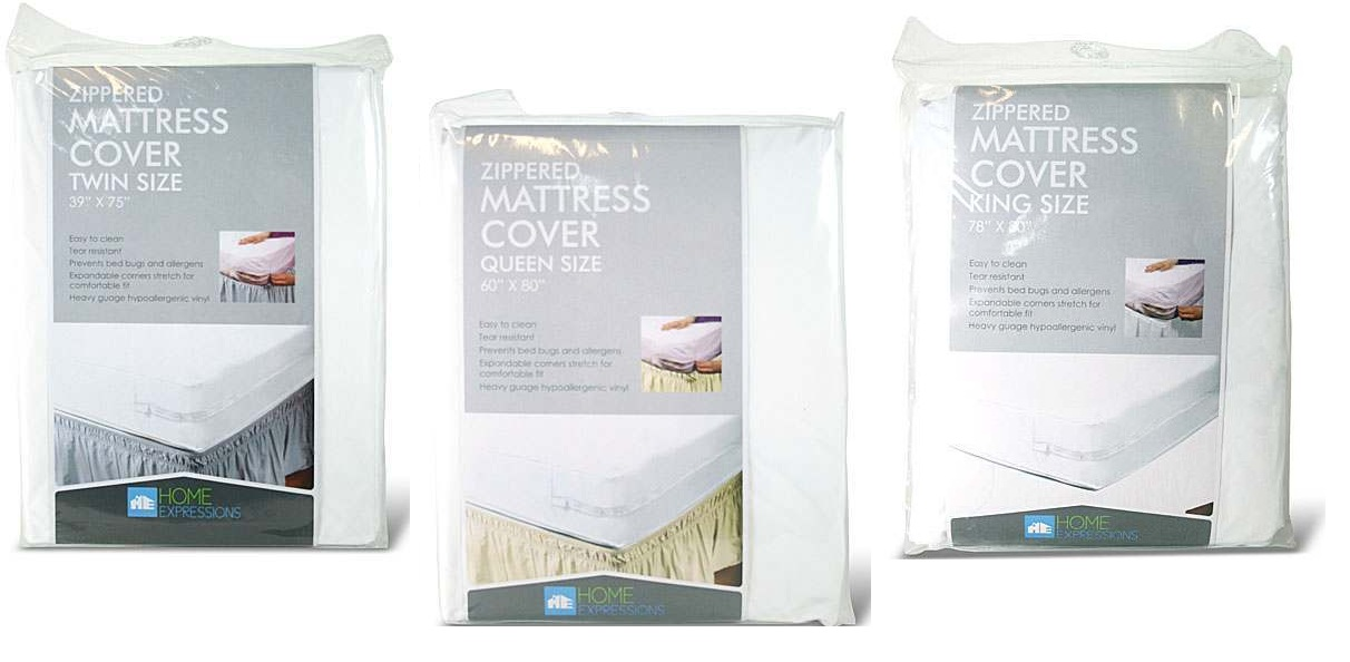 Home-Expressions-Zippered-Mattress-Cover-Choice-of-4-Sizes