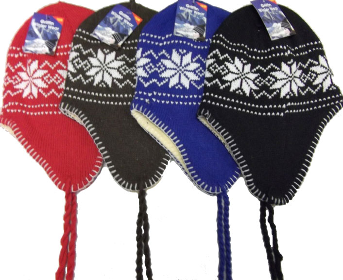 Unisex-Beanie-Hat-Knit-Ski-Snow-Earflap-Warm-Hat-4-Colors