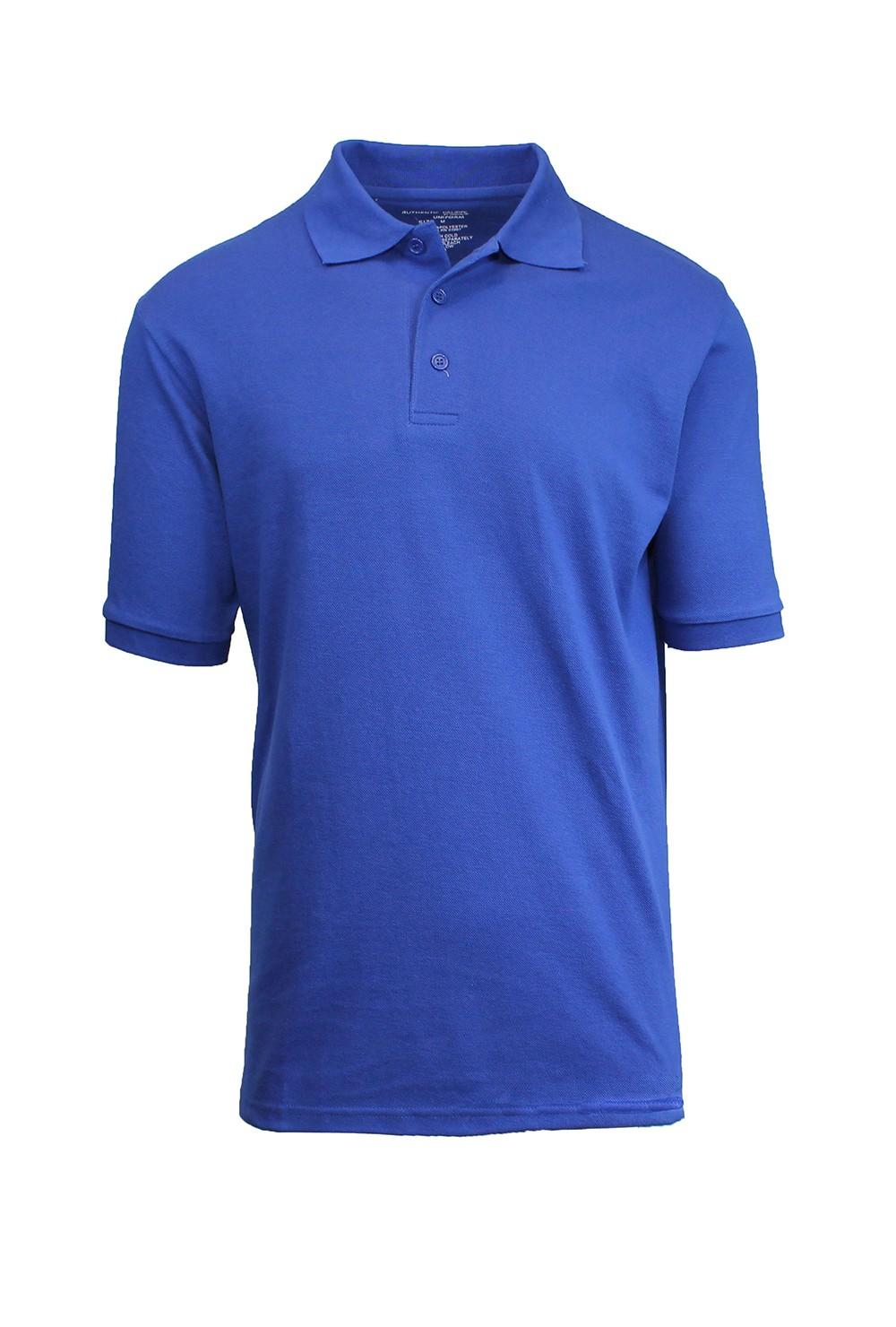 Galaxy by harvic men 39 s cotton blend collar 3 button pique for 3 button polo shirts