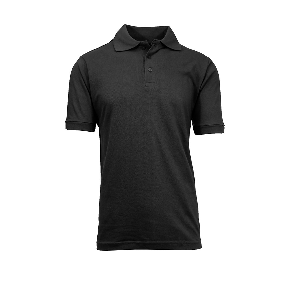 Galaxy by harvic men 39 s cotton blend collar 3 button pique for Button up collared sport shirts