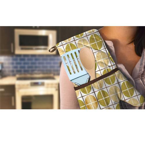 Kitchen Oven Mitts ~ Home solutions kitchen pal double mitt oven glove ebay