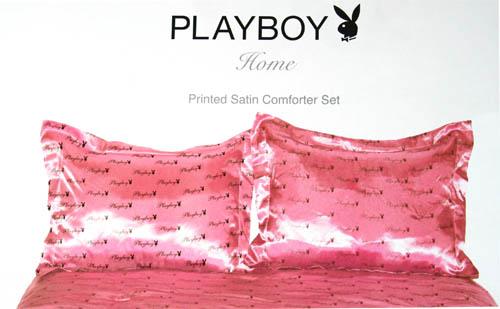 licensed playboy printed satin 100 polyester comforter set king size
