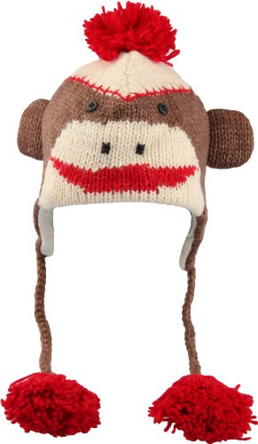 Sock-Monkey-Ski-Style-Bomber-Hat-with-Poly-Fleece-Lining-Stylish-Cool