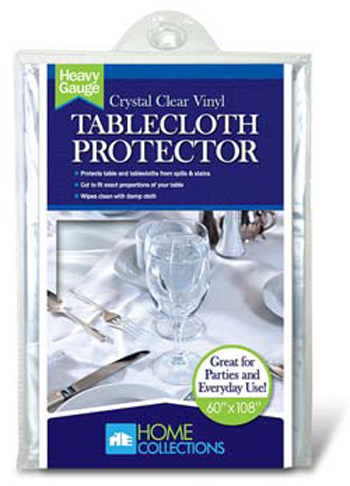 Home Collections Crystal Clear Vinyl Tablecloth Protector
