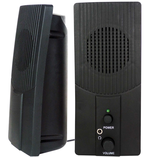 Vibe Slimline Lightweight USB Speakers – Fits Most Computers and 3.5mm Devices