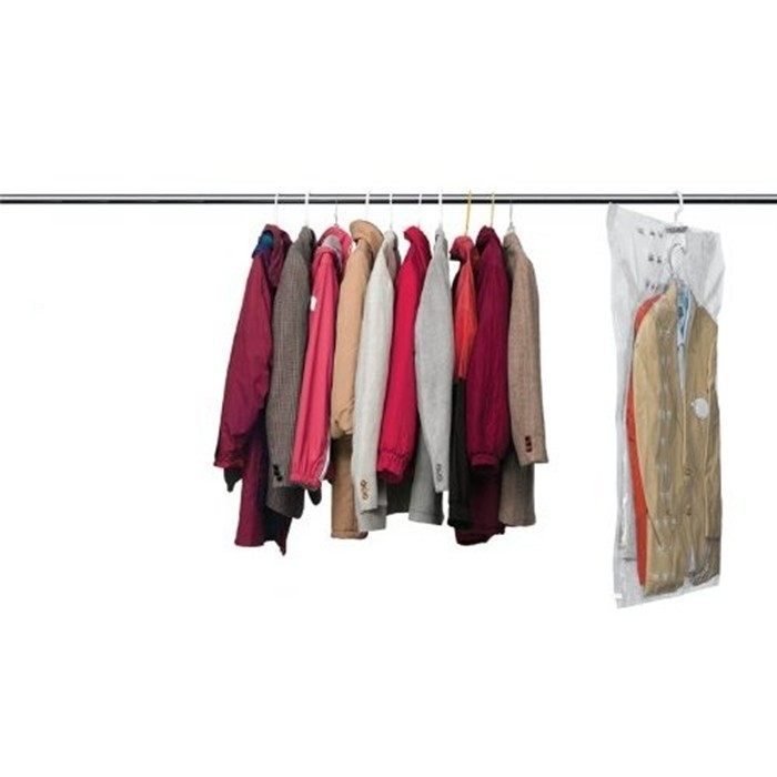 Set of 4 vacuum seal hanging garment bags space saver saving storage ebay - Hanging clothes in small spaces collection ...