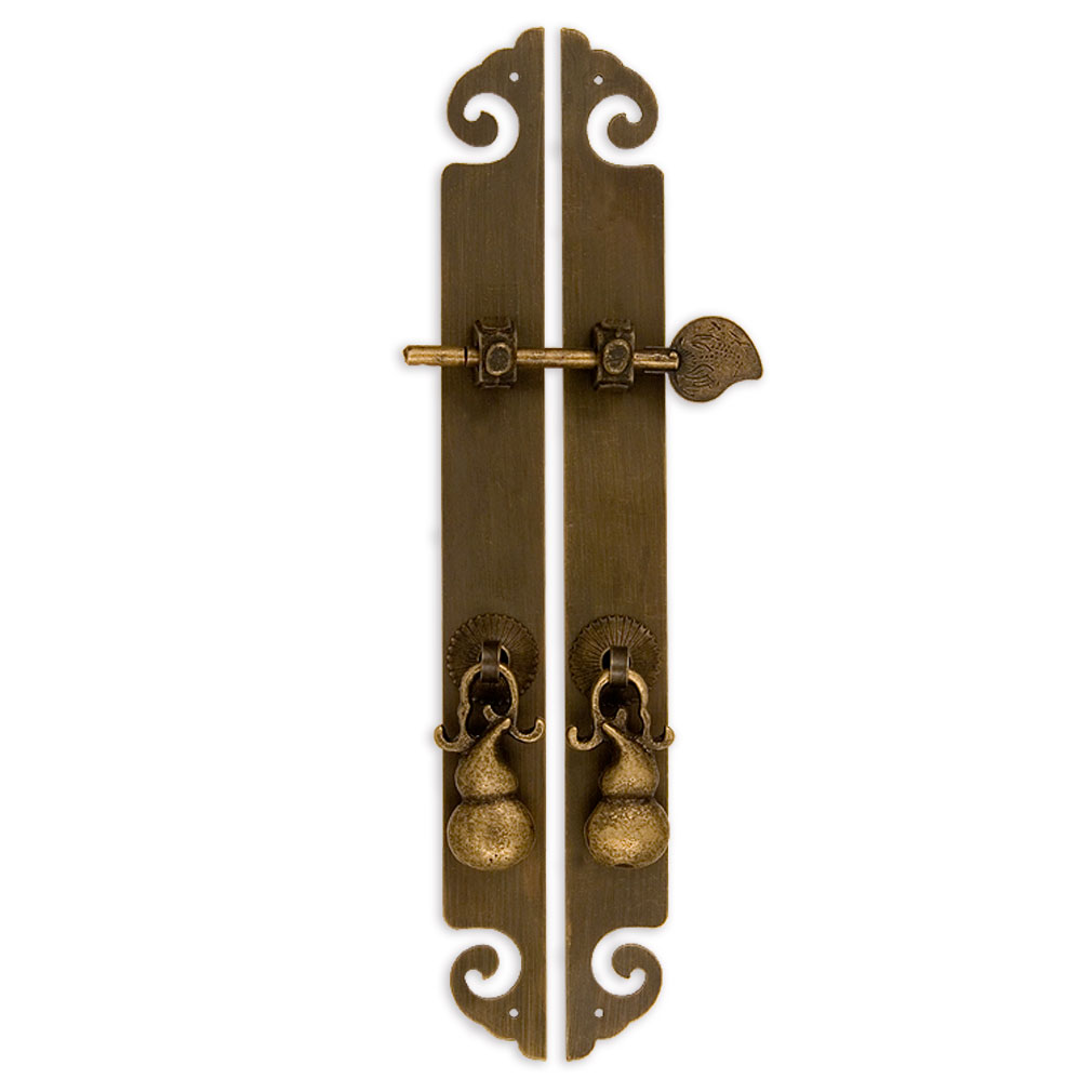 Cbh golden gourd chinese brass hardware cabinet strips 10 for Asian furniture hardware drawer pulls