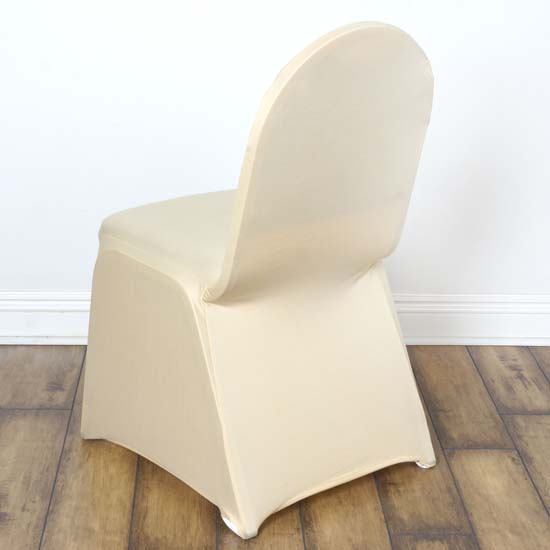 5PCS Stretchy Spandex Fitted Banquet Chair Cover Dinning Event For Wedding