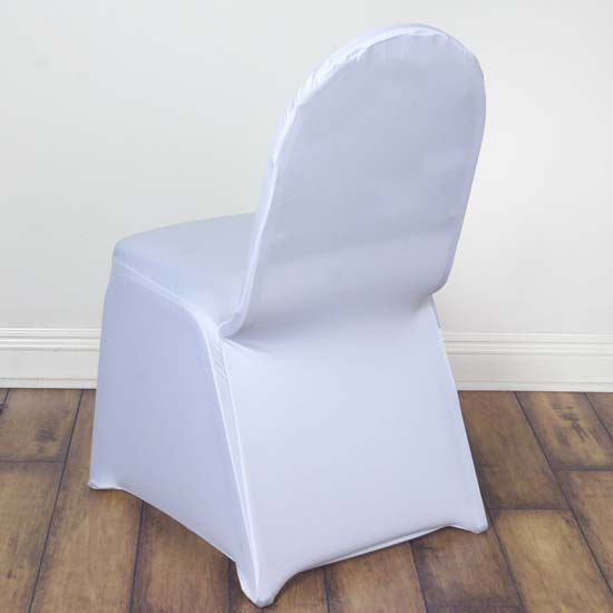 50pcs Stretchy Spandex Fitted Banquet Chair Cover Dinning Event Slipcover