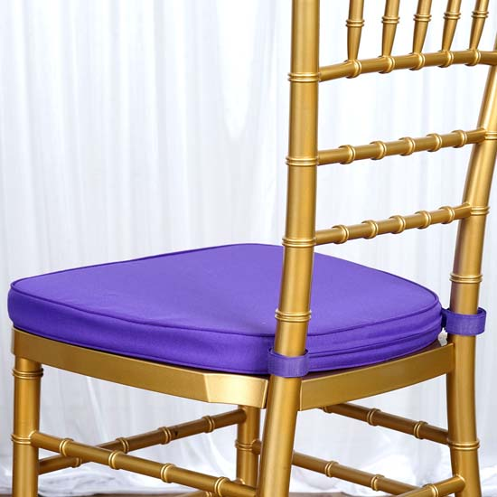 """2/"""" Thick--PACK OF 5 Chiavari Chair Cushion Chair Pad with Attachment Straps"""