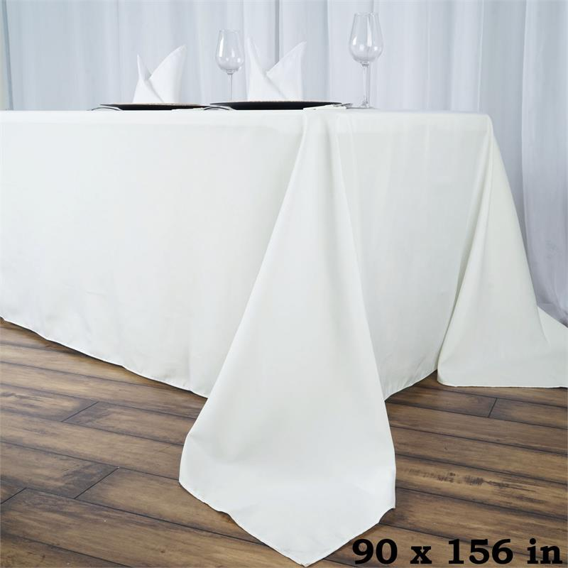 Heavy Duty Polyester : Premium heavy duty polyester rectangle tablecloth wrinkle