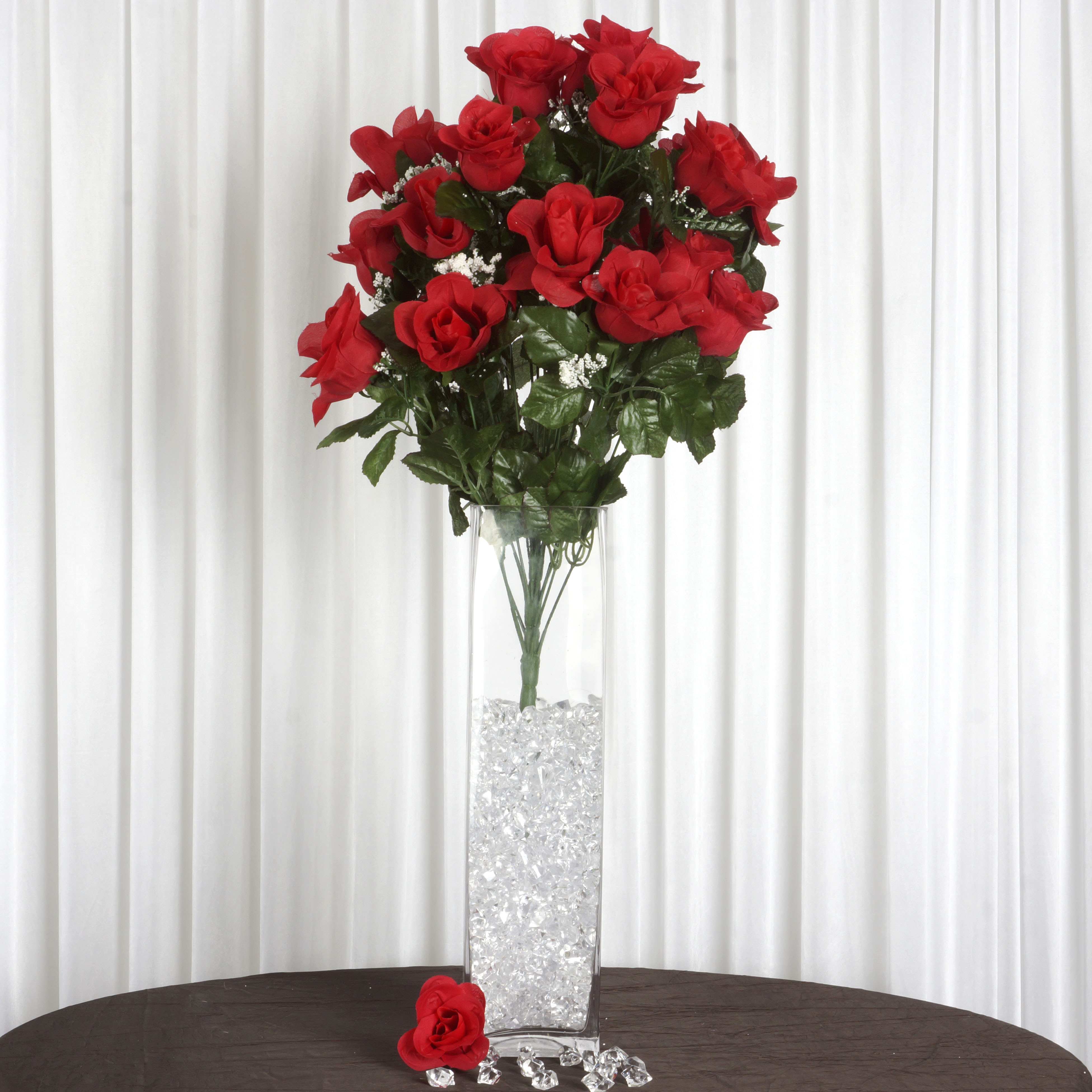 192 GIANT ROSE BUDS BUSH Wedding FLOWERS Wholesale Party Bouquets ...