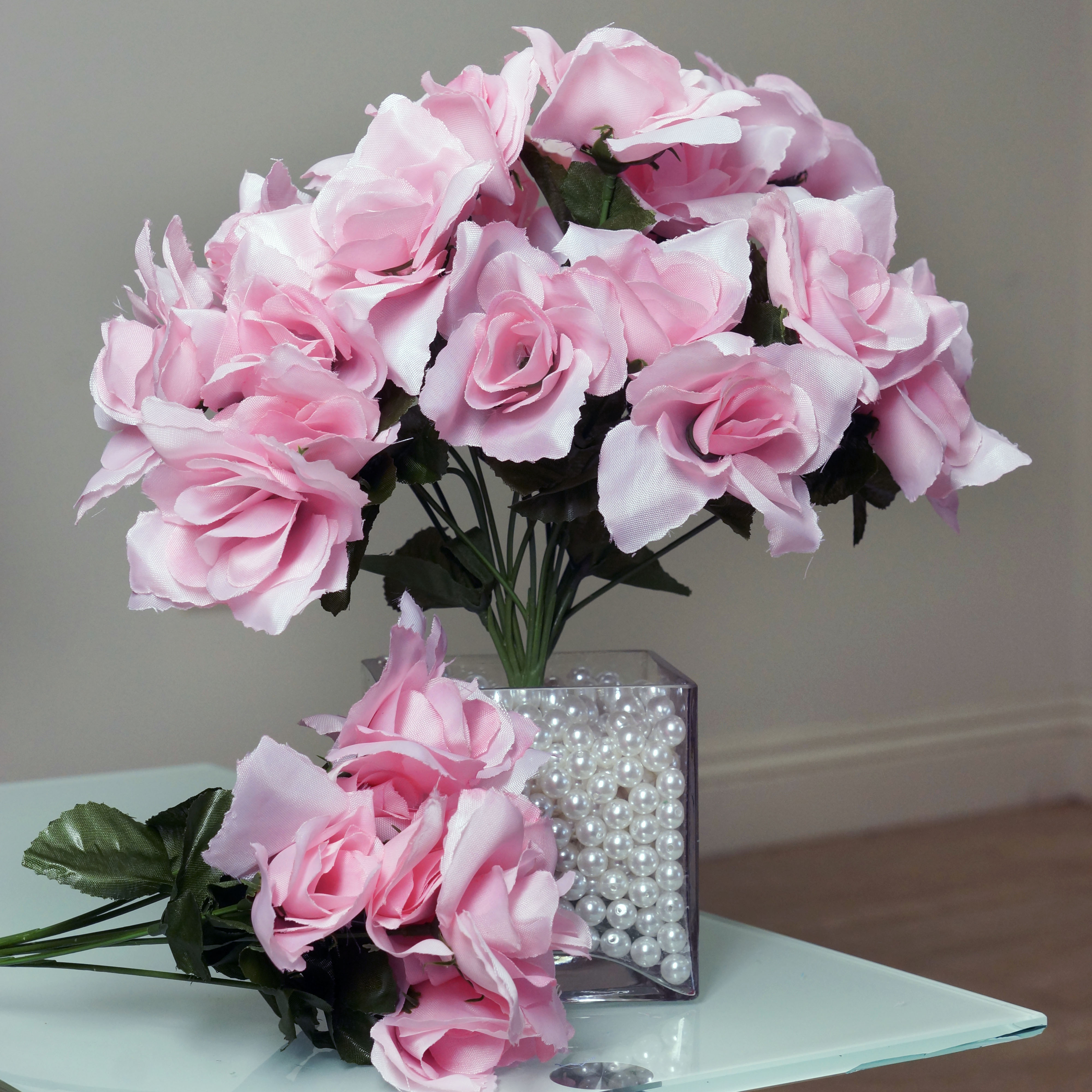 252 silk open roses wedding wholesale discounted flowers bouquets centerpieces ebay. Black Bedroom Furniture Sets. Home Design Ideas