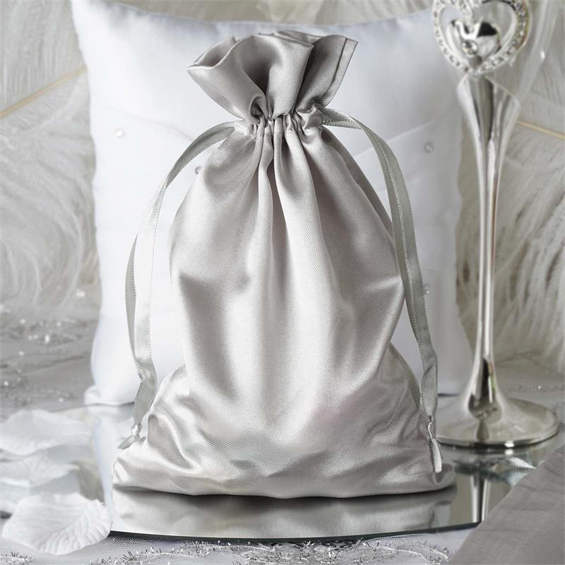 60 Pcs 6x9 SATIN FAVOR BAGS Wedding Party Reception Gift Favors WHOLESALE Bulk