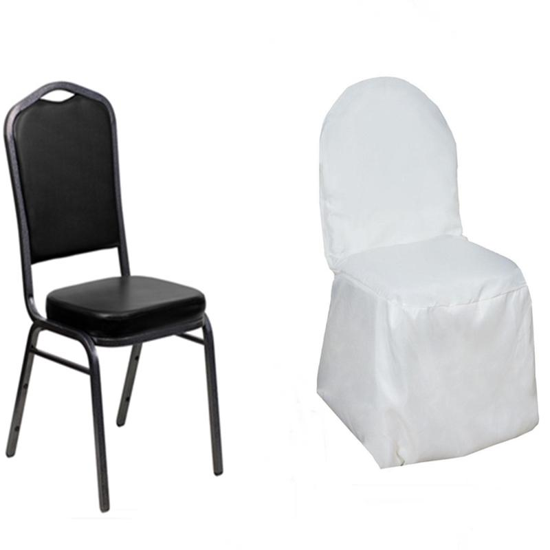 200 Pcs Polyester Banquet Chair Covers Wedding Catering Party Decorations Sal