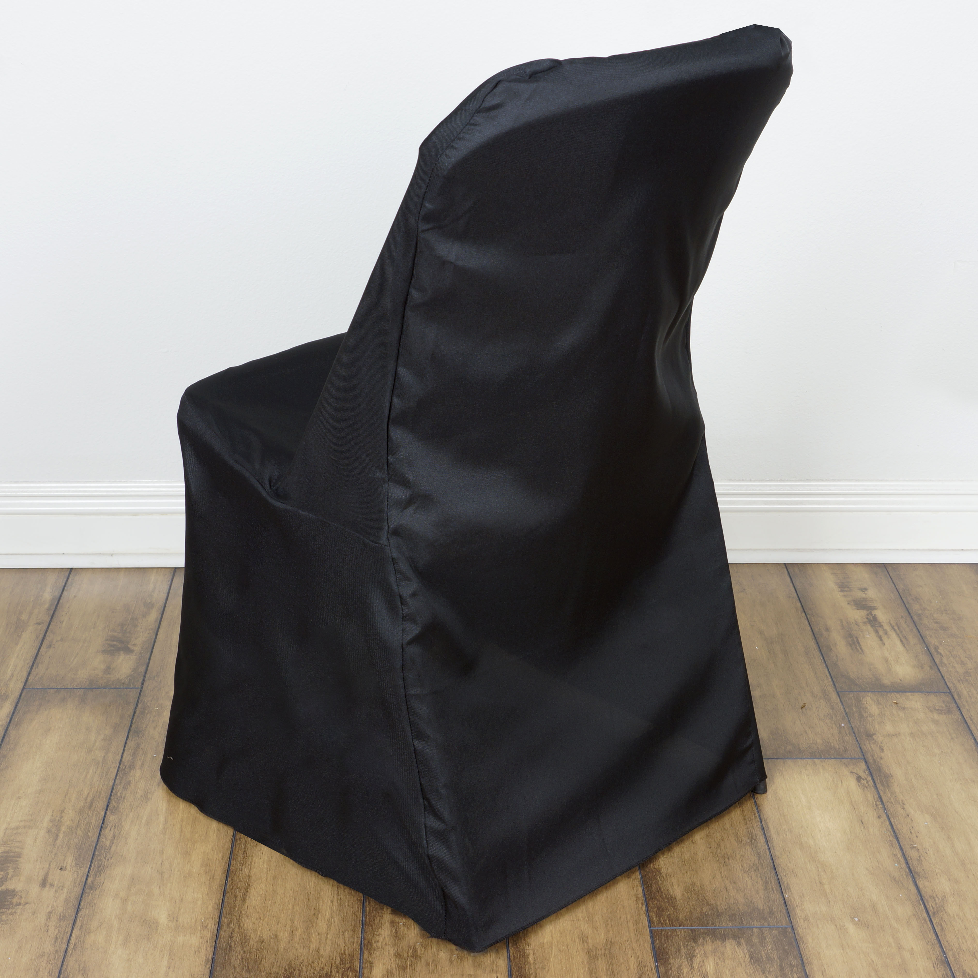 Black LIFETIME FOLDING CHAIR COVER Sample Wedding Party Catering Decorations