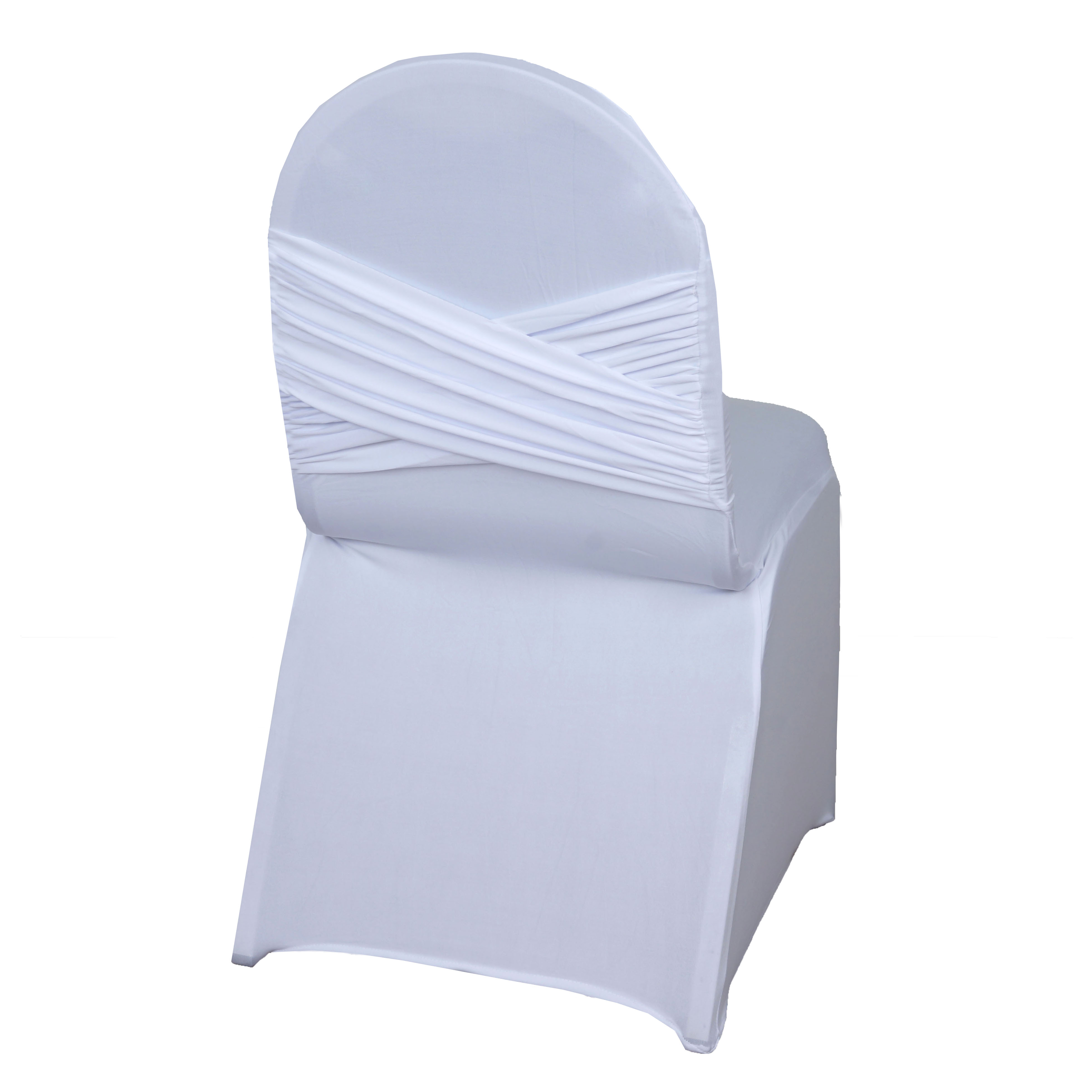 100 pcs madrid banquet chair covers with crisscross design for Chair covers for wedding design