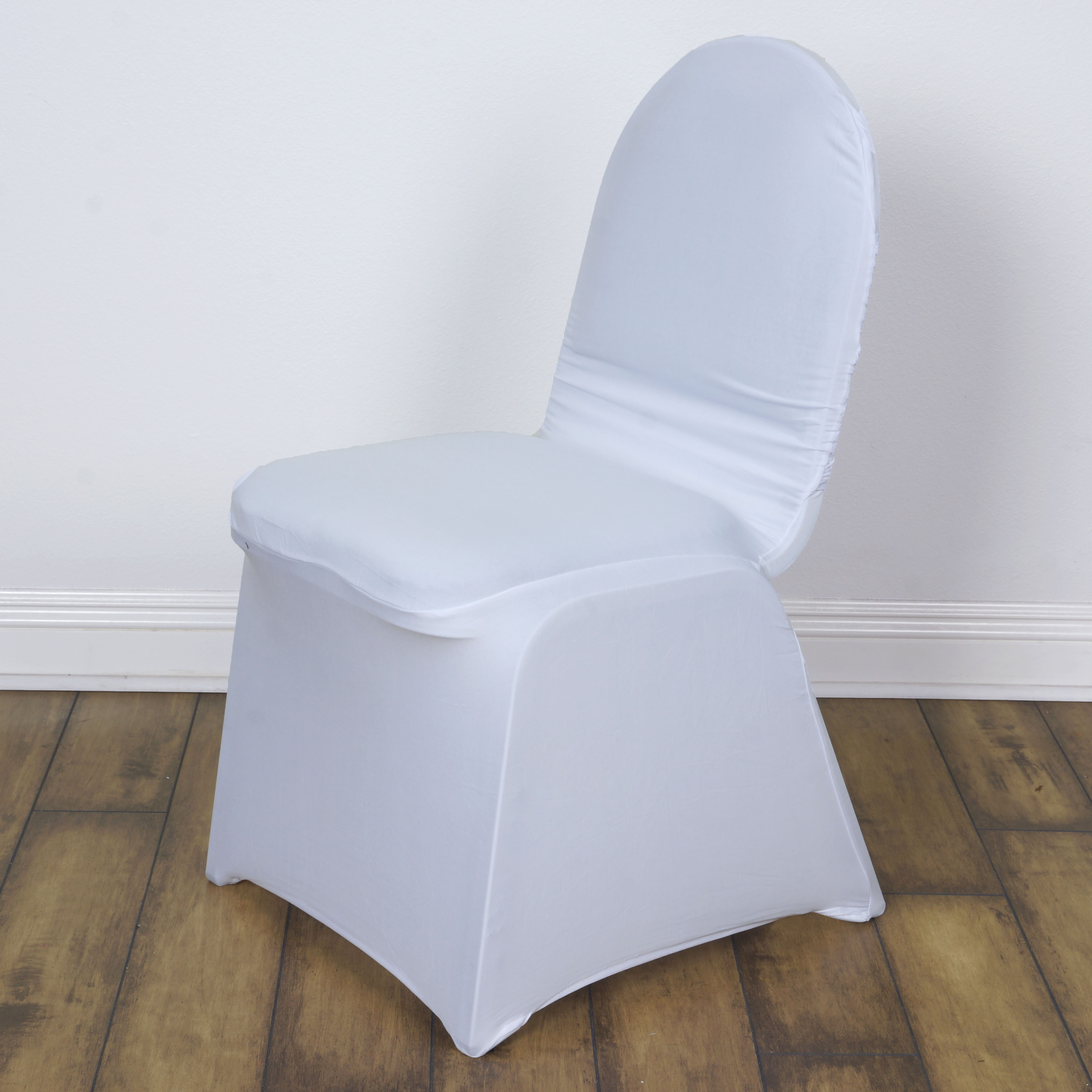 75 pcs madrid banquet chair covers with crisscross design