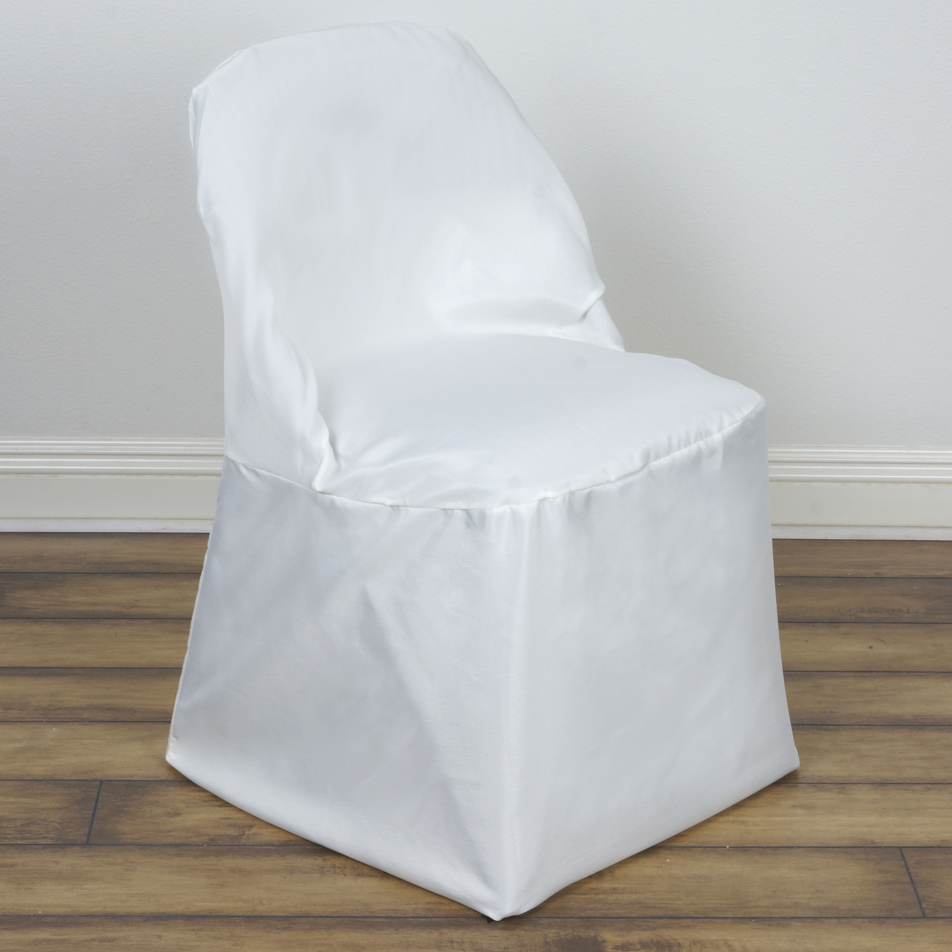100 pcs POLYESTER ROUND FOLDING CHAIR COVERS Wholesale Discount Wedding Suppl