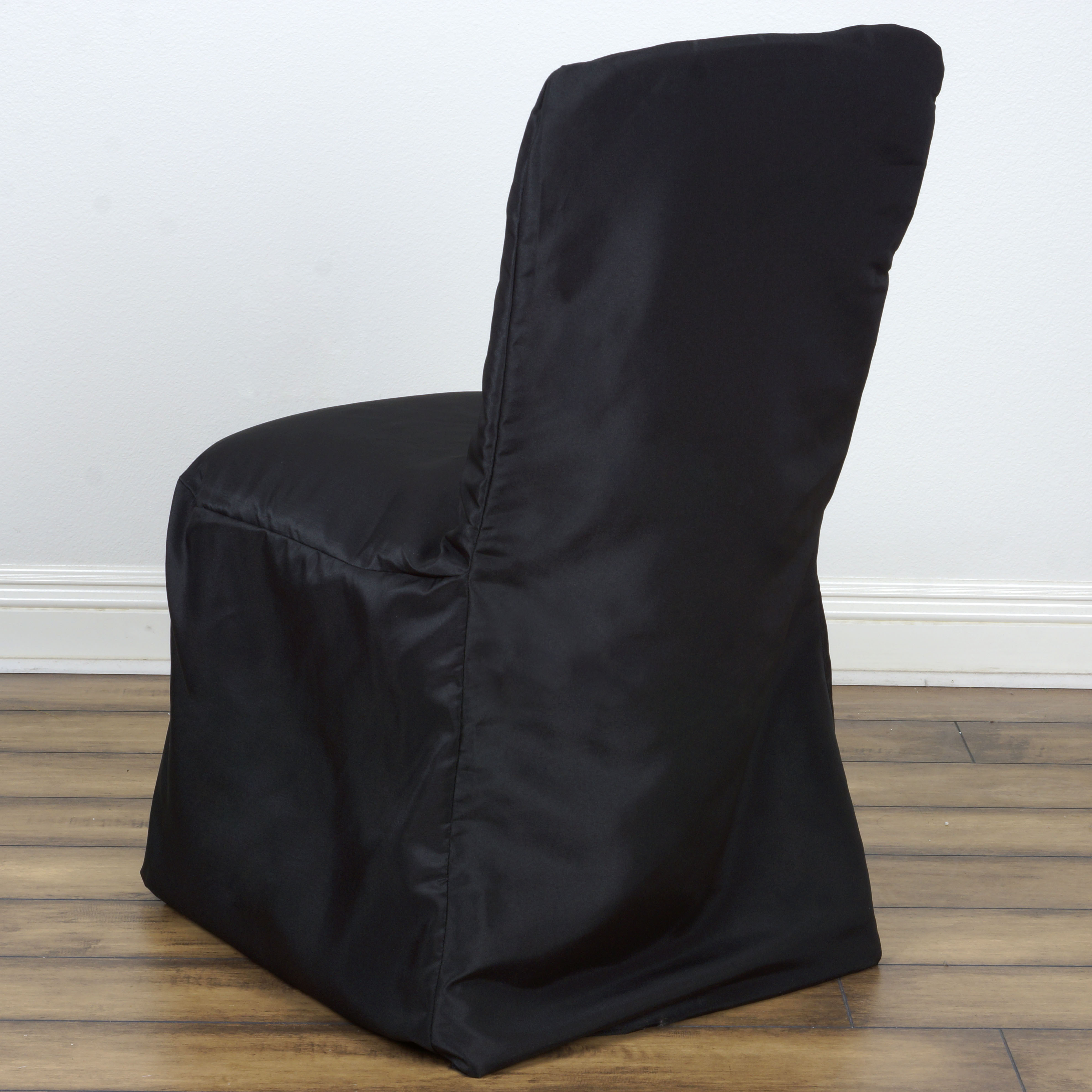 100 pcs SQUARE TOP POLYESTER BANQUET CHAIR COVERS Wholesale Wedding Decoratio