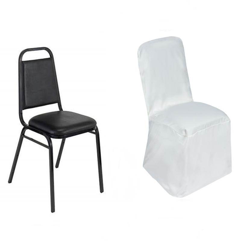 25 Pcs SQUARE TOP POLYESTER BANQUET CHAIR COVERS Party Wedding Decorations SA