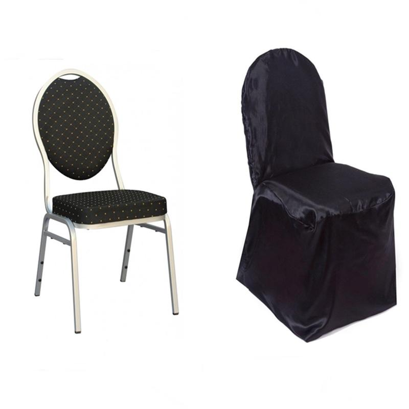 25 pcs SATIN BANQUET CHAIR COVERS Wedding Party Ceremony