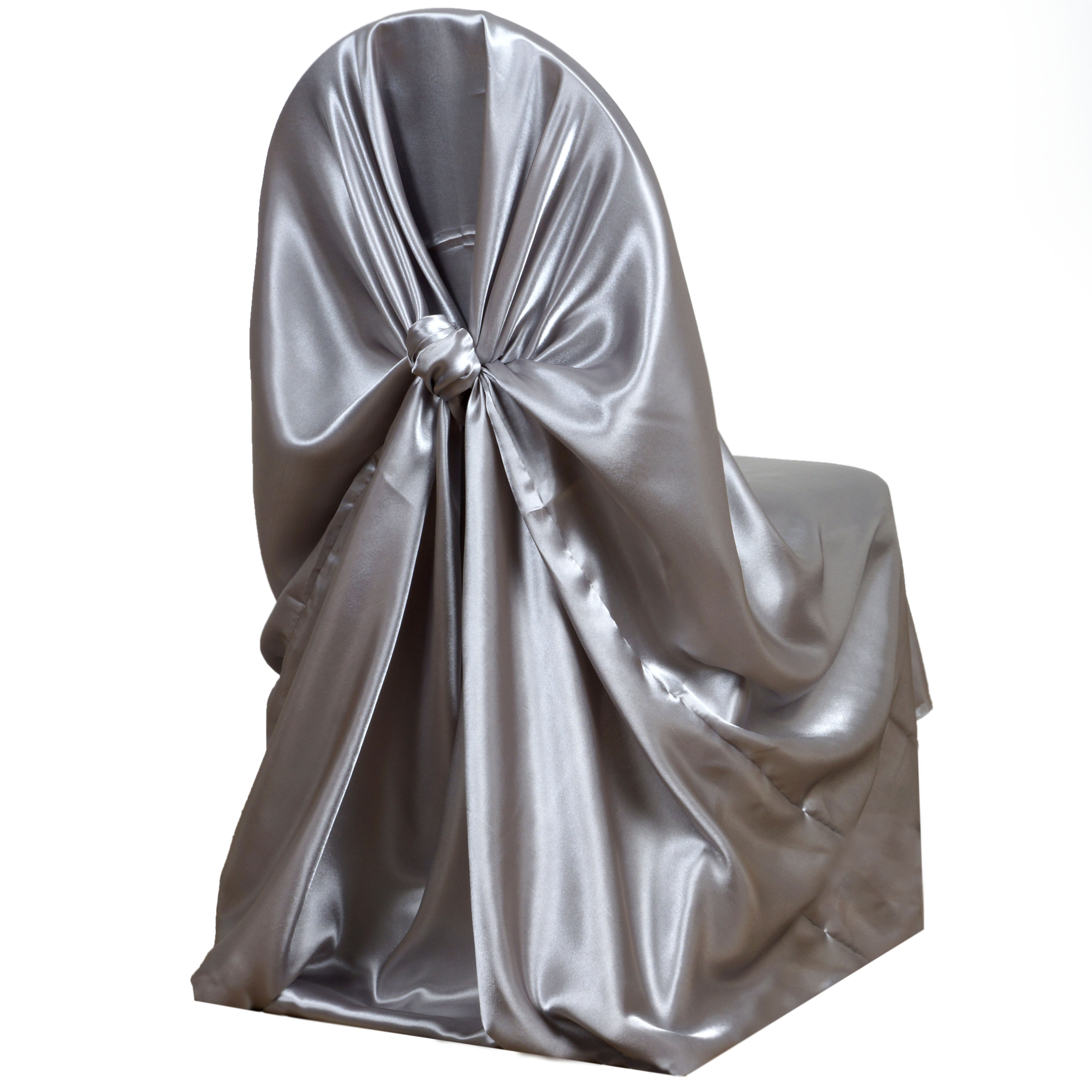 100 pcs SATIN UNIVERSAL CHAIR COVERS Wholesale Wedding Party