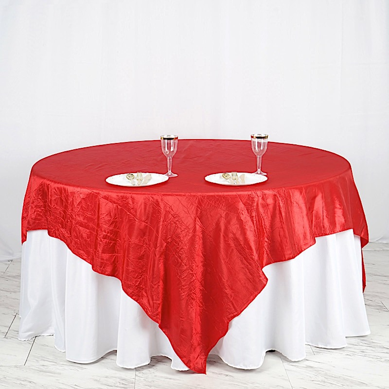 "36 x Wholesale Lot CRINKLED 90x90"" SQUARE Table OVERLAYS Wedding Party Linens"