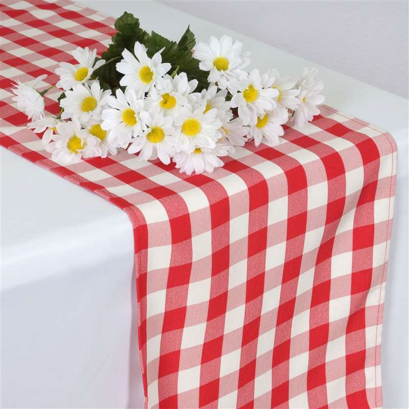36 checkered gingham polyester table runners 14 x 108 for 108 table runner