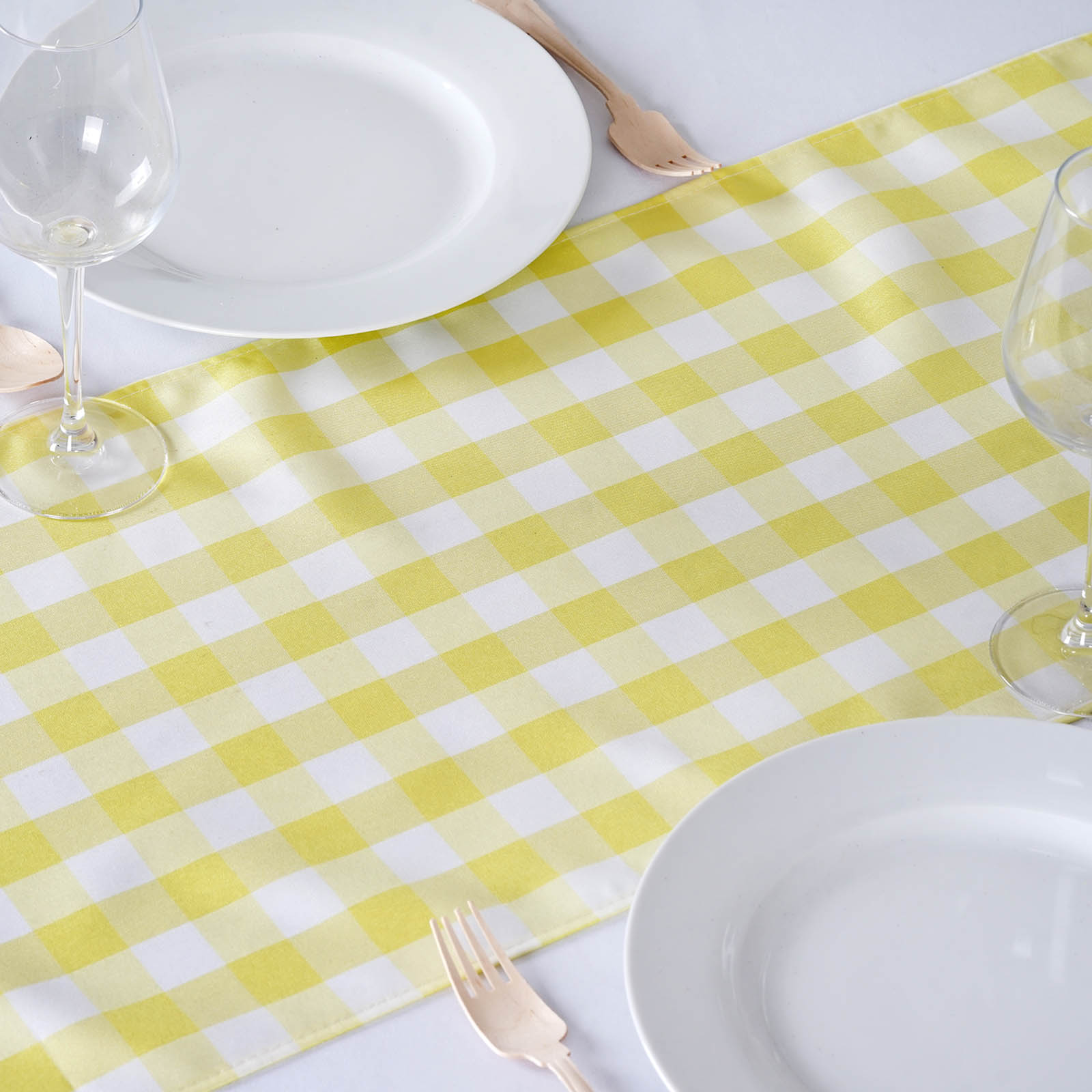 6 checkered gingham polyester table runners 14 x 108 for 108 table runner