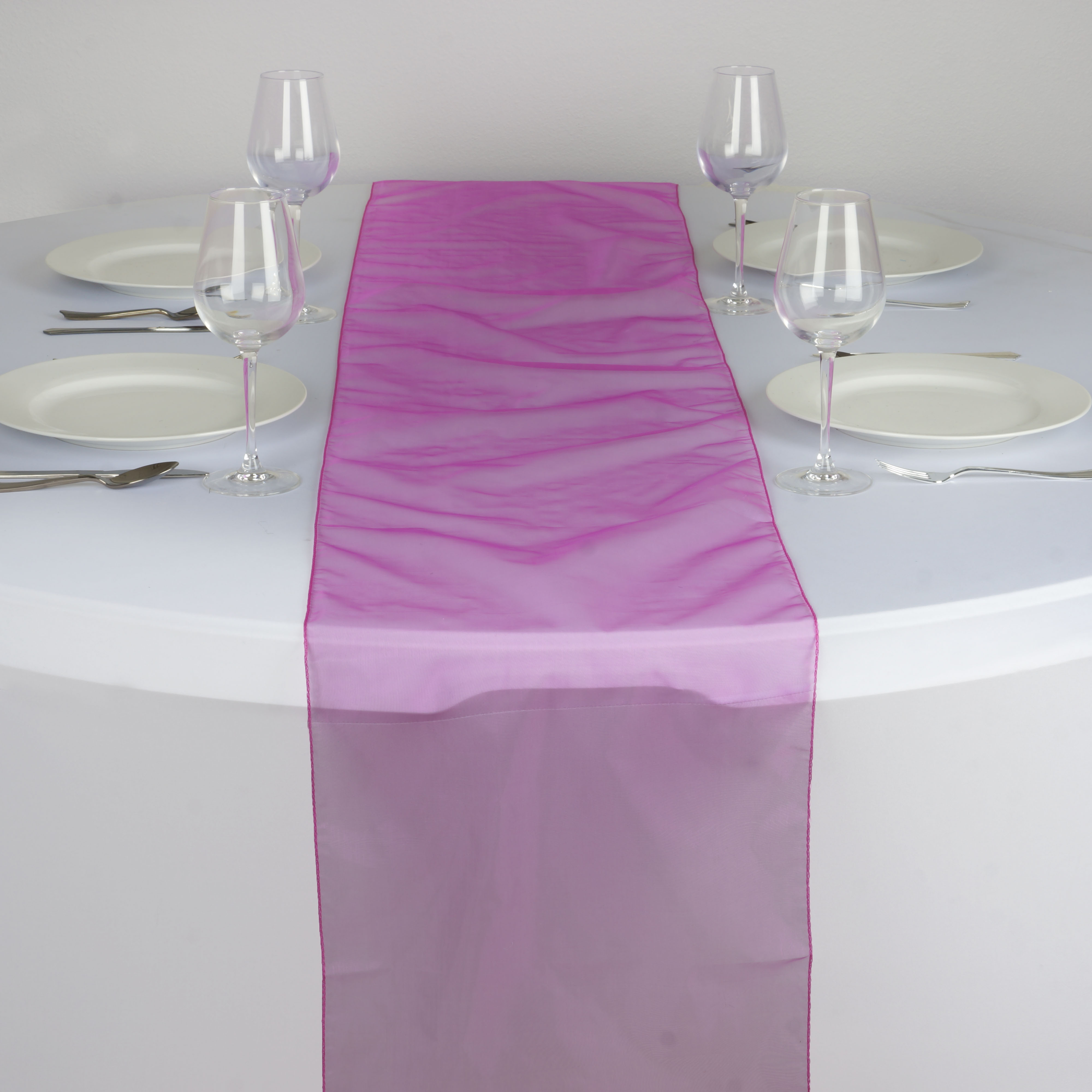 5 organza 14x108 table runners wedding party kitchen for Table runner