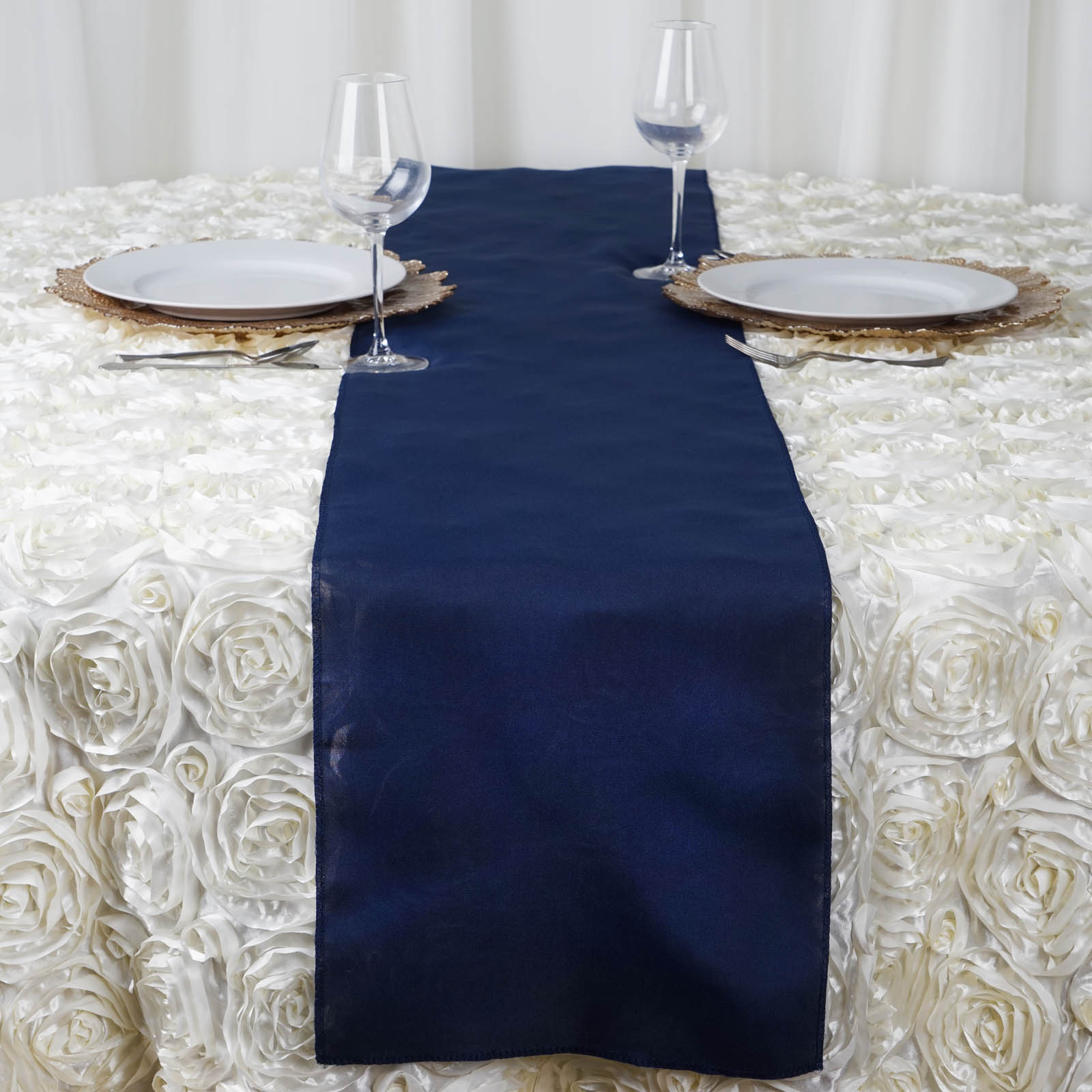 25 POLYESTER 12x108 Table RUNNERS Wholesale Wedding Party Reception Lin