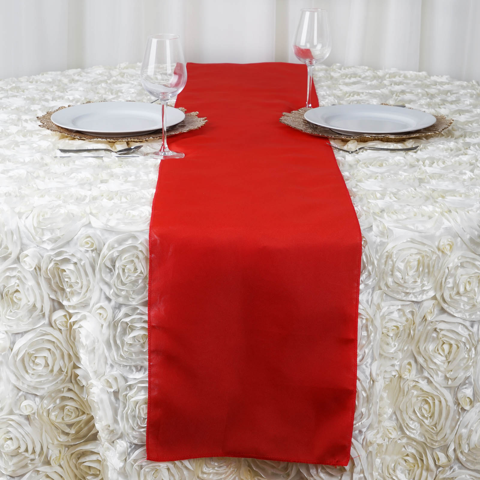 20 polyester 12x108 table runners wedding party reception for Table runner