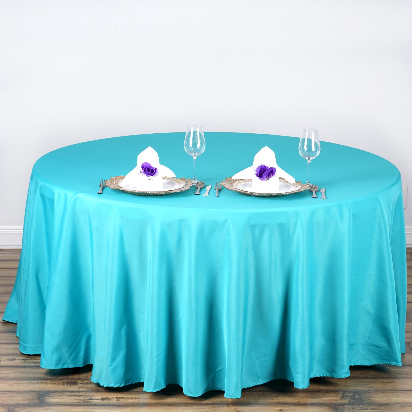 """24 pcs Wholesale Lot 108/"""" ROUND POLYESTER TABLECLOTHS Wedding Catering Supplies"""