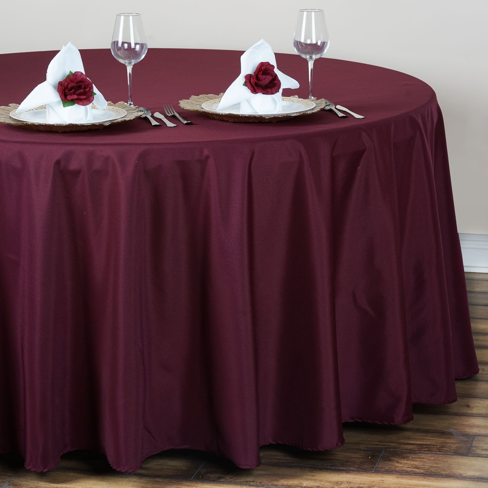 15 pcs Wholesale Lot 120quot ROUND POLYESTER TABLECLOTHS Fine  : tab120burg02 from www.ebay.com size 1600 x 1600 jpeg 238kB