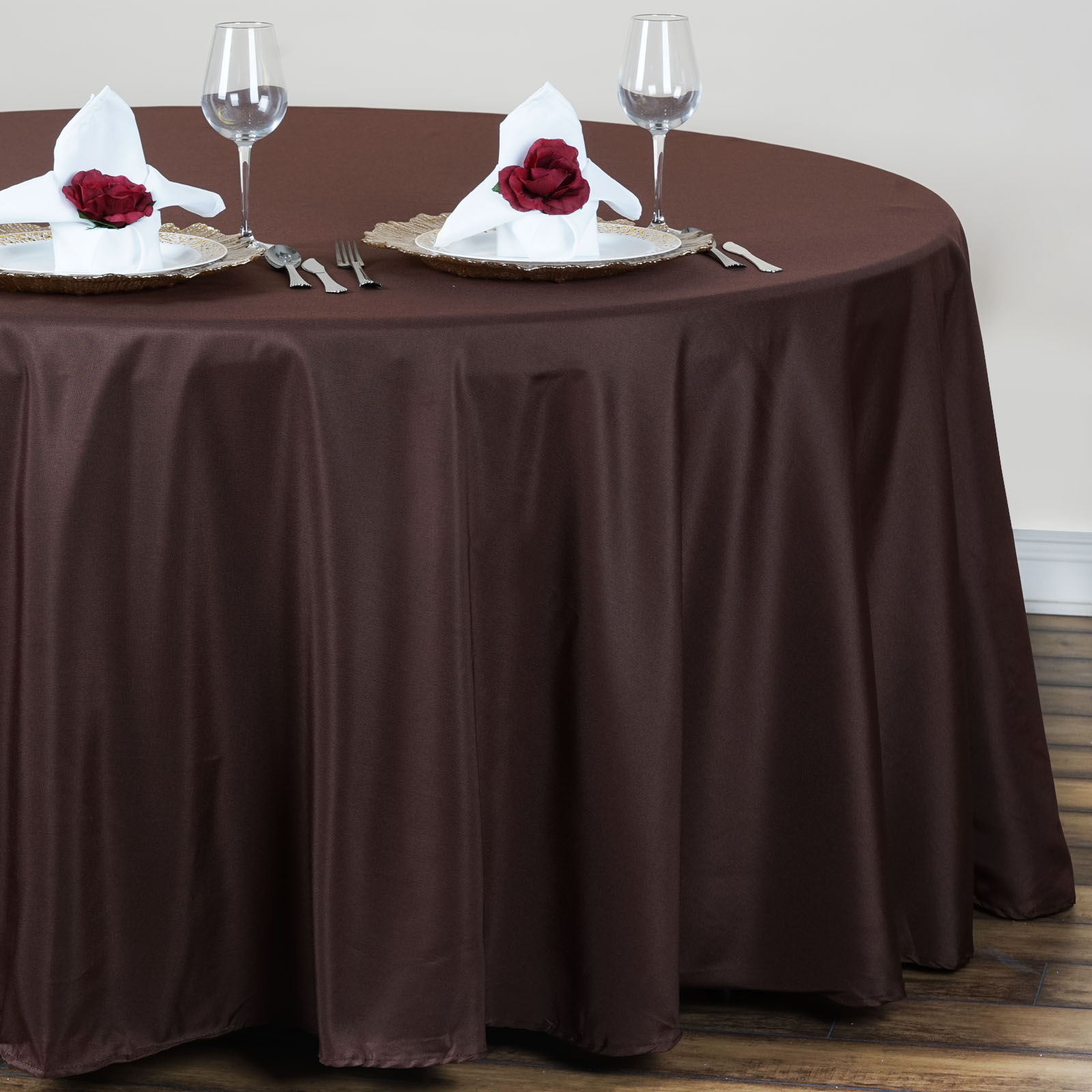 15 pcs Wholesale Lot 120quot ROUND POLYESTER TABLECLOTHS Fine  : tab120ch0c02 from www.ebay.com size 1600 x 1600 jpeg 241kB