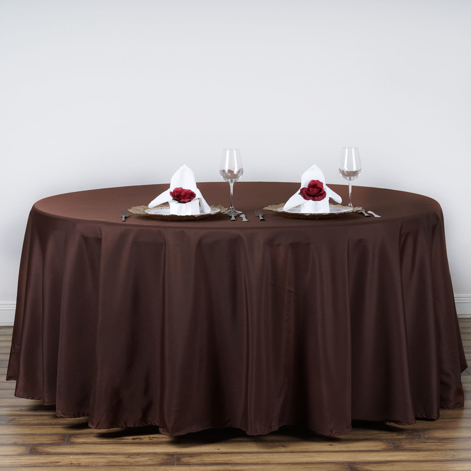 15 pcs Wholesale Lot 120quot ROUND POLYESTER TABLECLOTHS Fine  : tab120choc01 from www.ebay.com size 1600 x 1600 jpeg 196kB