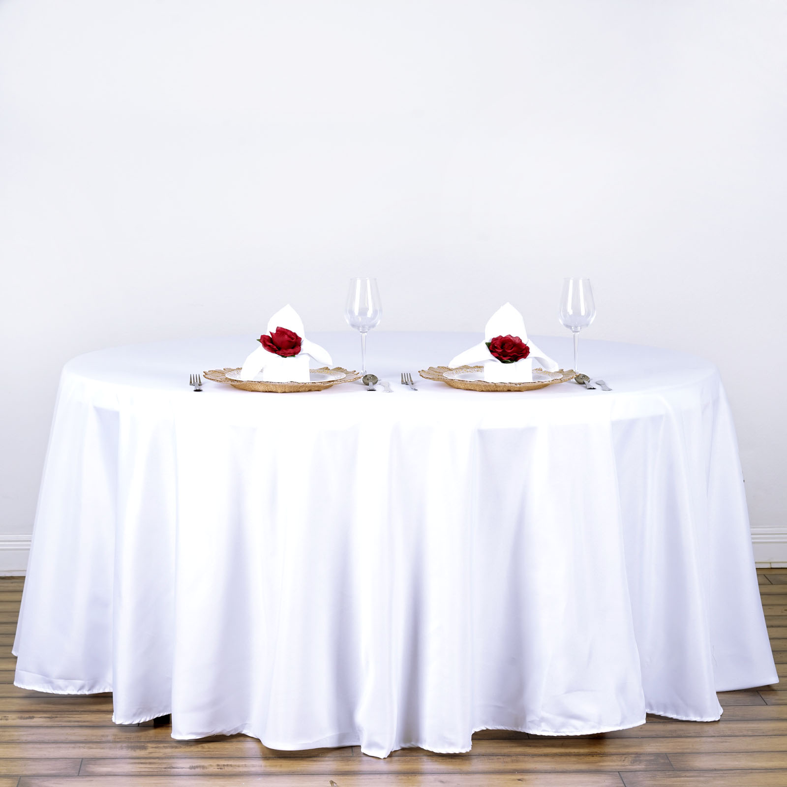 15 pcs Wholesale Lot 120quot ROUND POLYESTER TABLECLOTHS Fine  : tab120wht01 from www.ebay.com size 1600 x 1600 jpeg 166kB