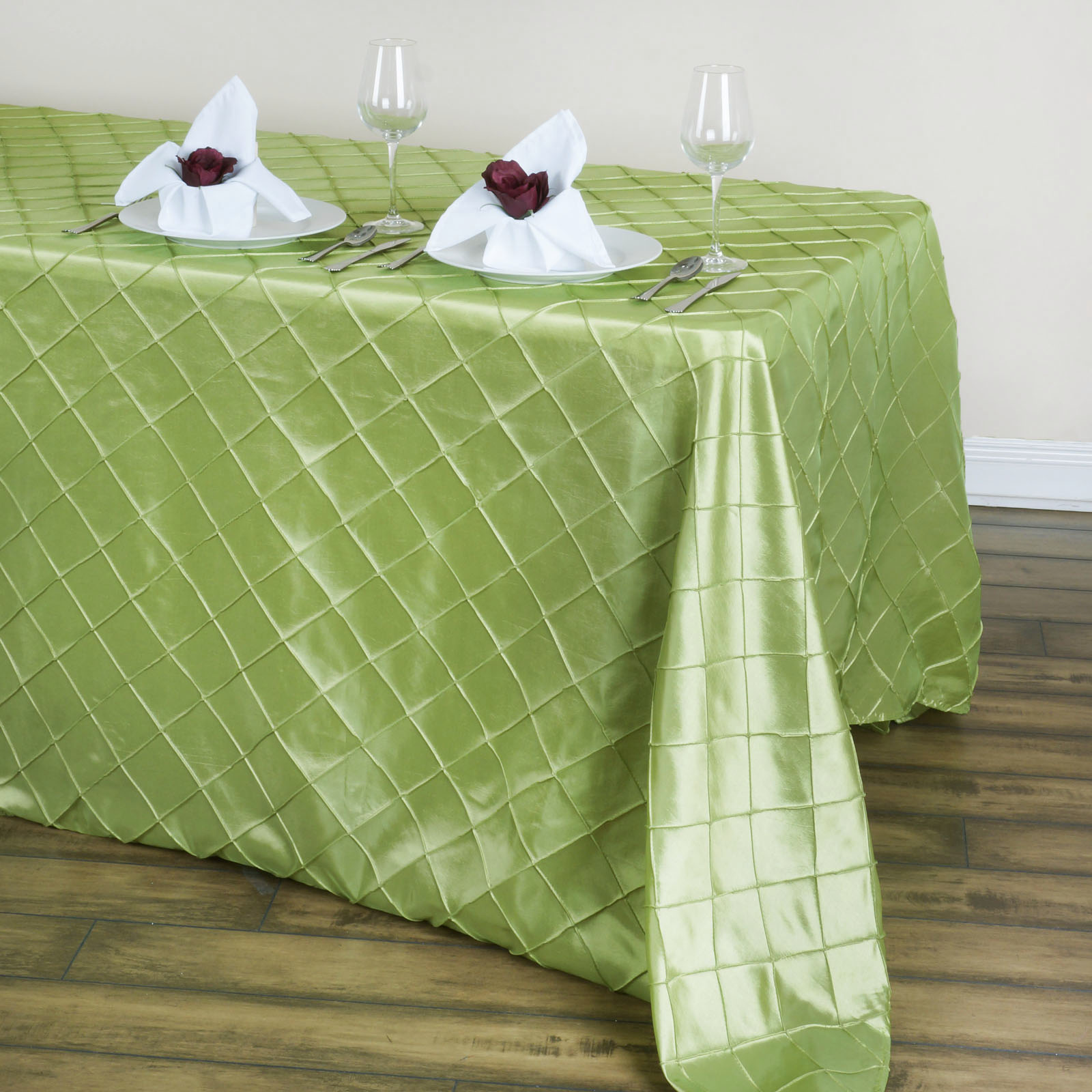 pintuck tablecloths for sale