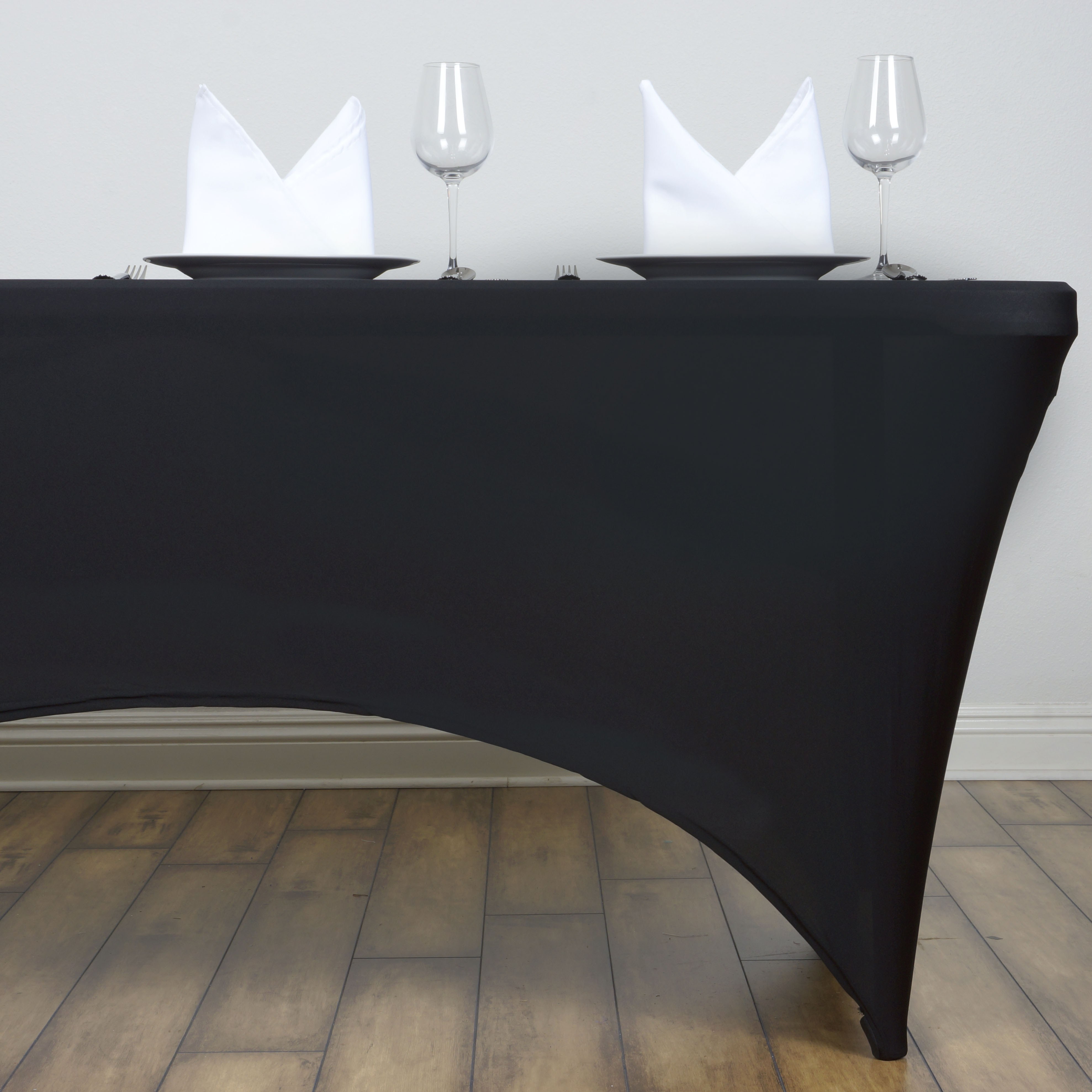 18 pcs 4 ft RECTANGLE SPANDEX STRETCH TABLE COVERS Fitted