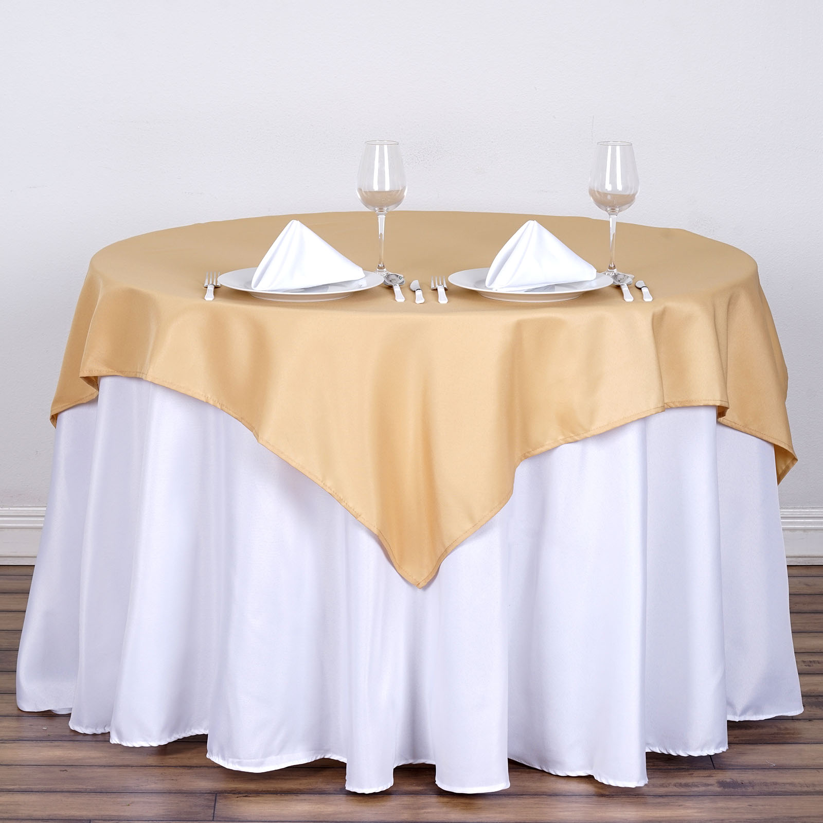 """6 pcs 54/"""" SQUARE POLYESTER TABLECLOTHS Wedding Party Catering Dinner Linens SALE"""