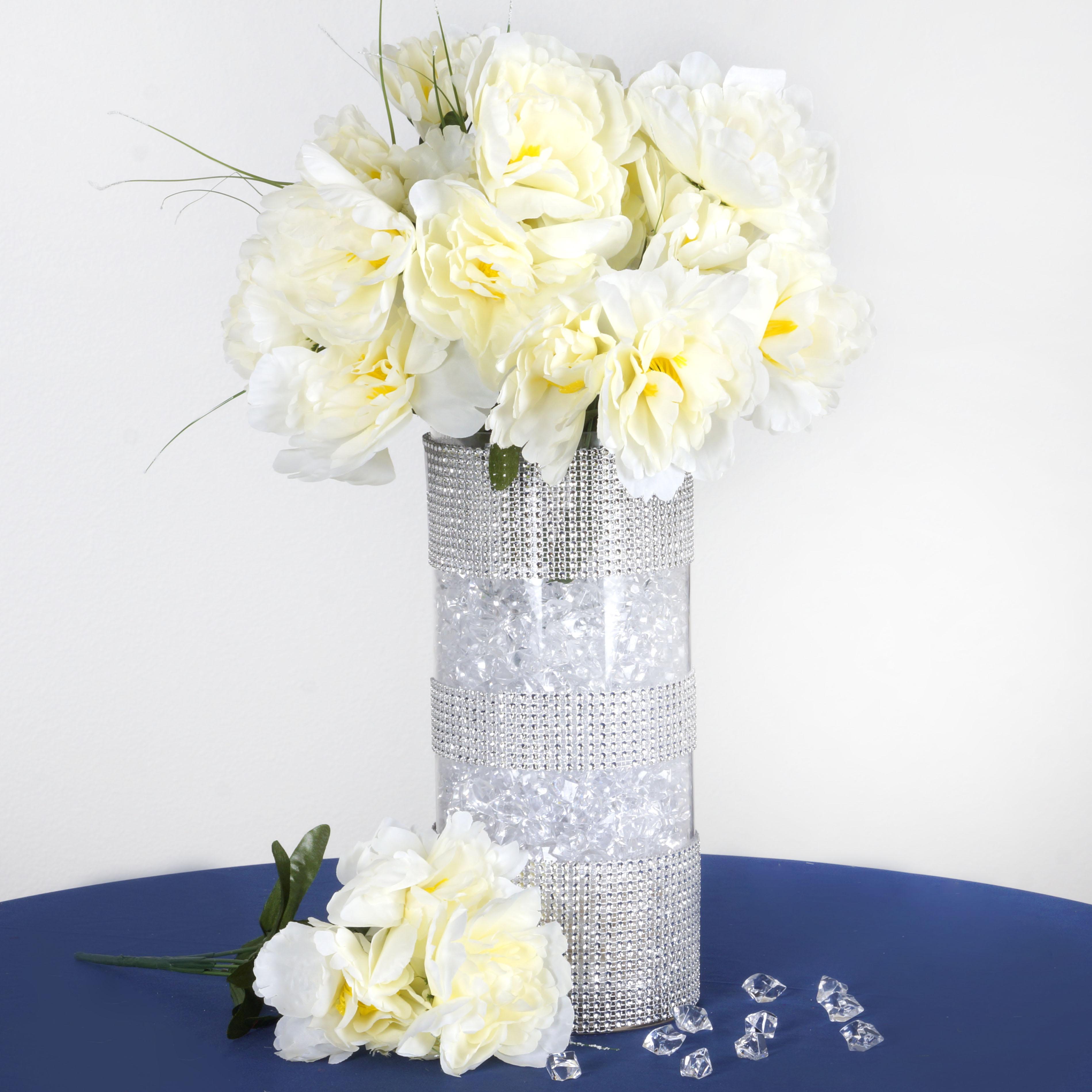 12 silk peony bushes wedding flowers peonies bouquets wholesale centerpieces ebay. Black Bedroom Furniture Sets. Home Design Ideas