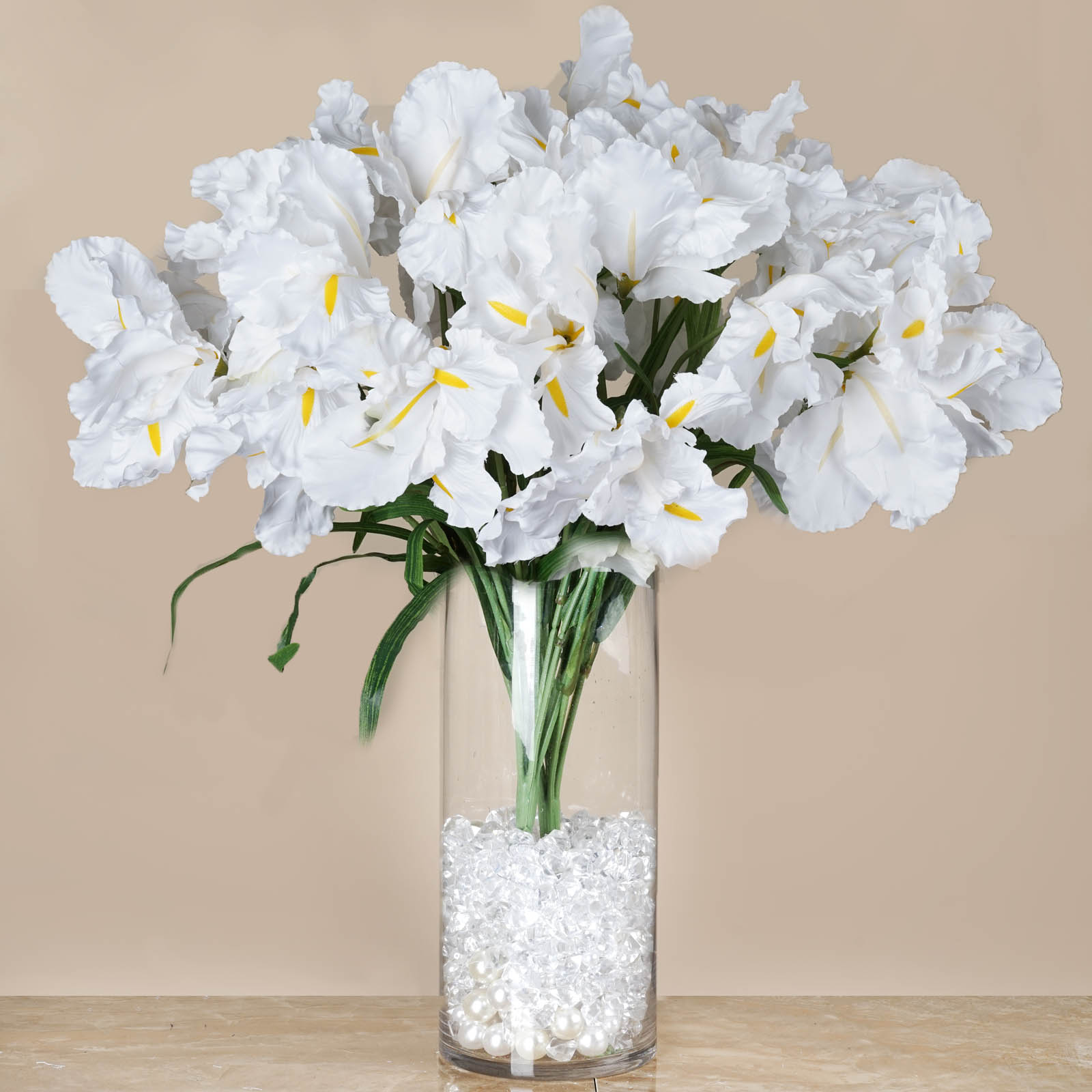 Large silk iris bushes wedding party artificial