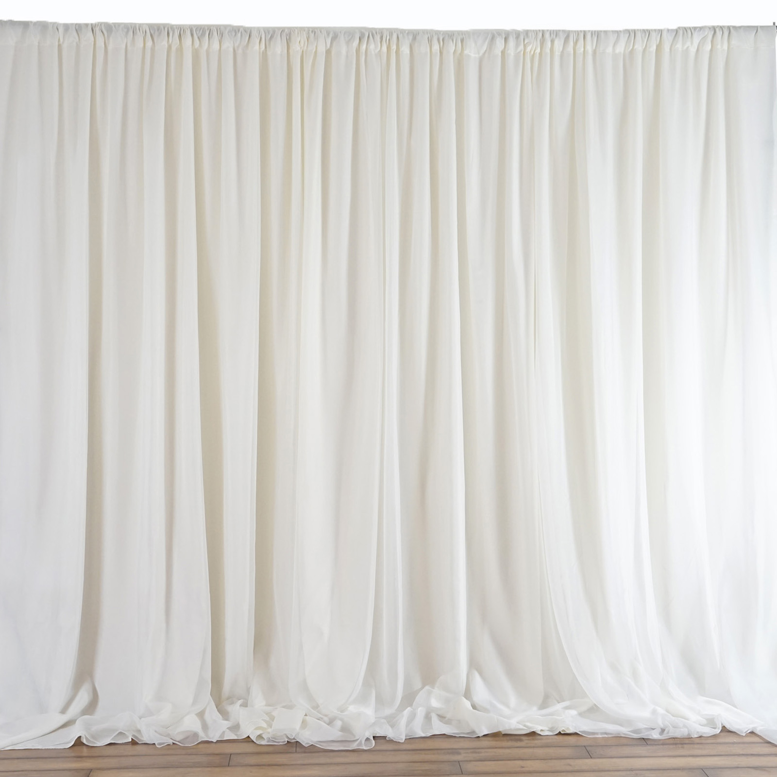 20 ft x 10 ft ivory fabric backdrop wedding party for Background curtain decoration