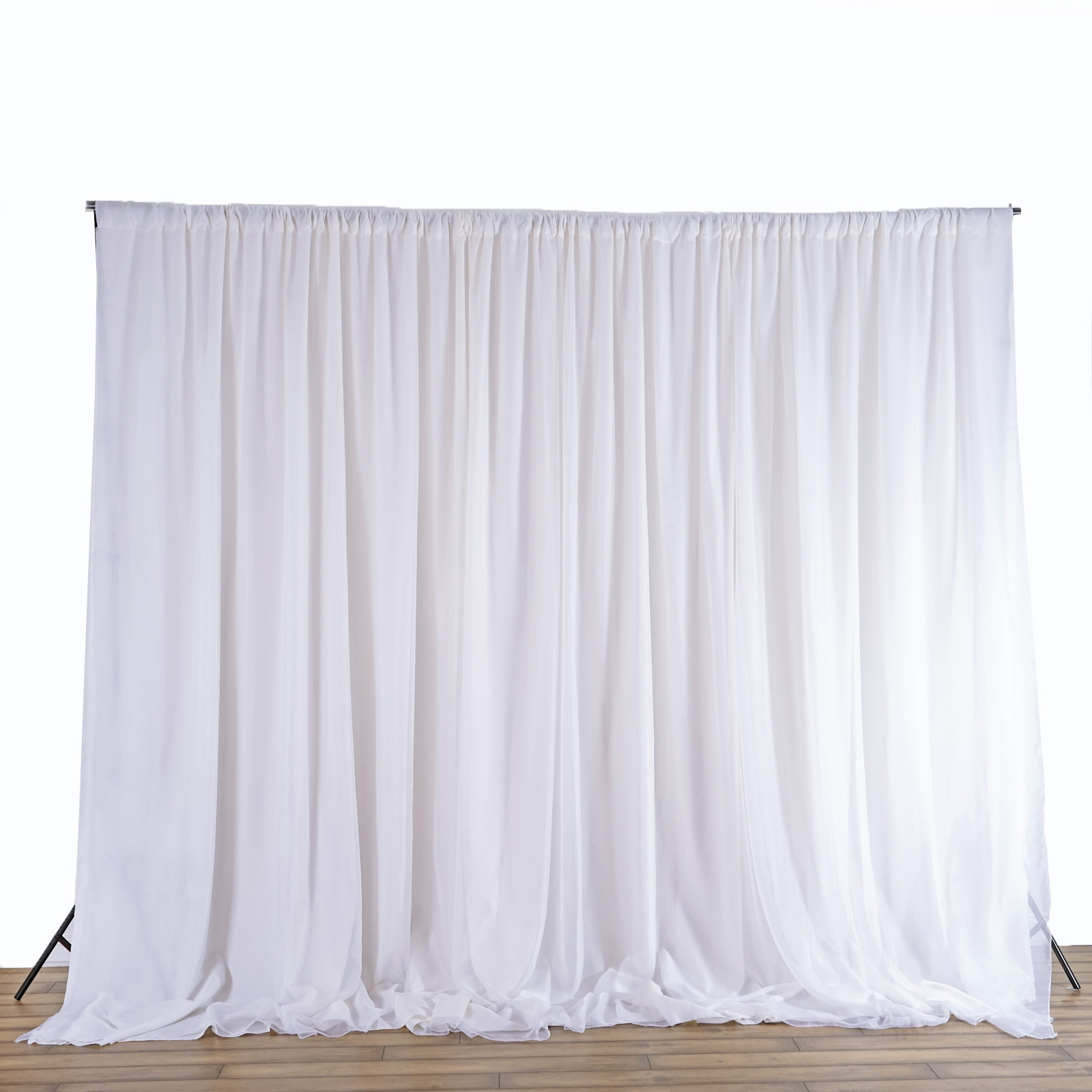 Wedding Altar Curtains: 20 Ft X 8 Ft WHITE Fabric BACKDROP Wedding Altar Ceremony