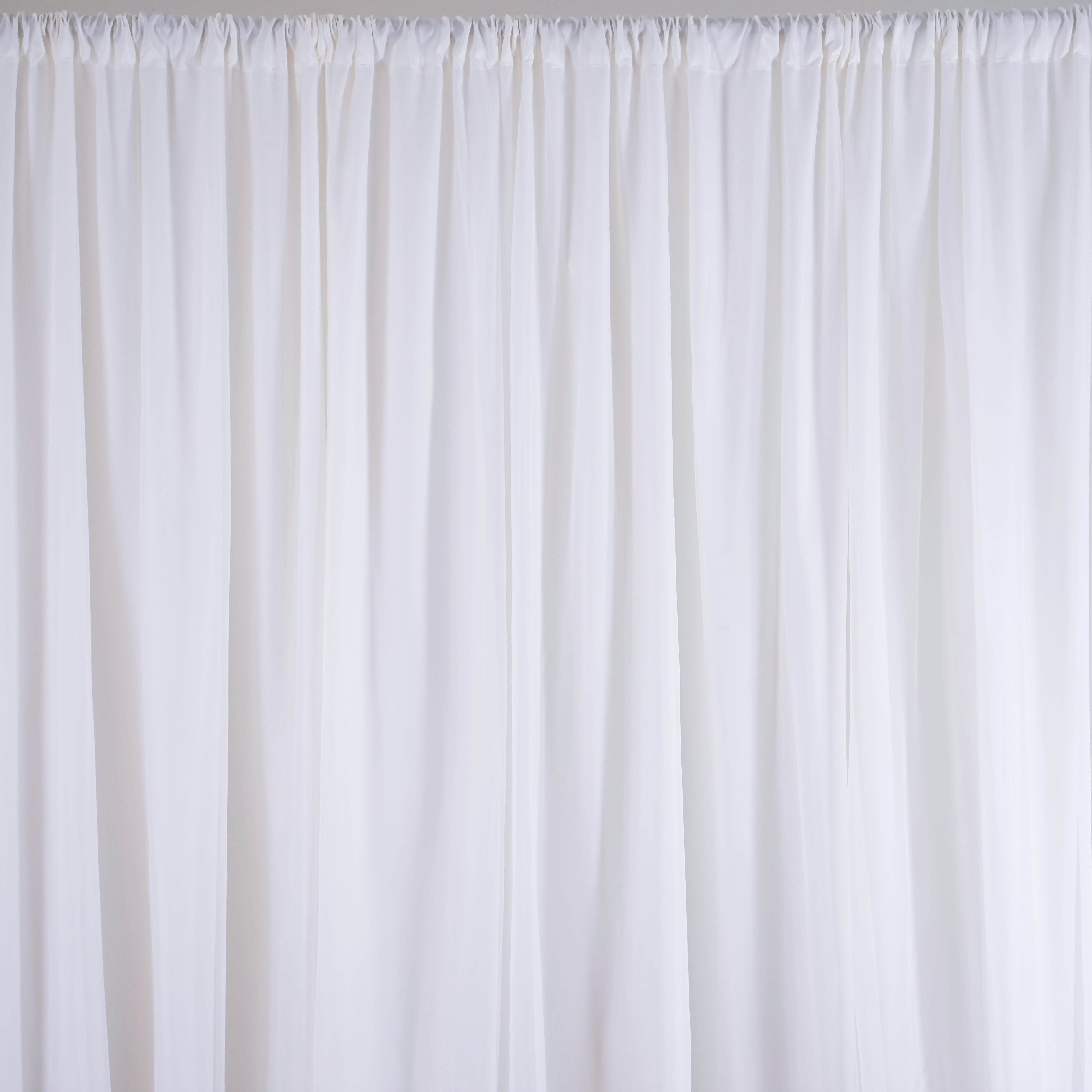 Awesome 20 Ft X 10 Ft WHITE Fabric BACKDROP