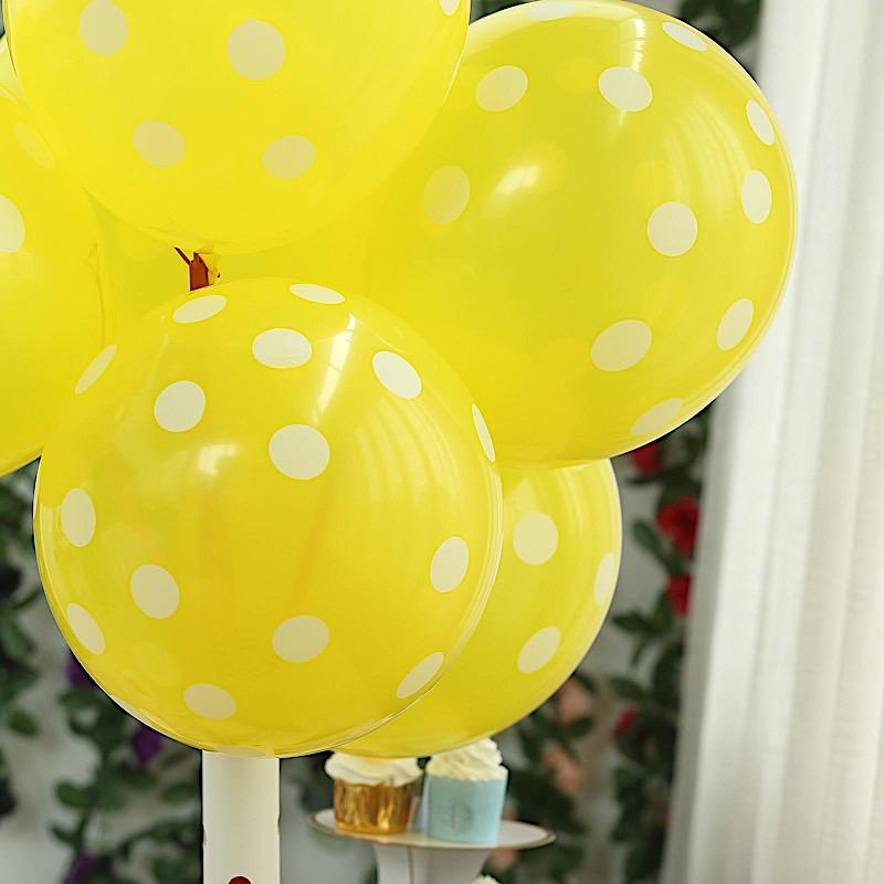"100 pcs 12/"" Latex Balloons with Polka Dots Wedding Birthday Party Decorations"