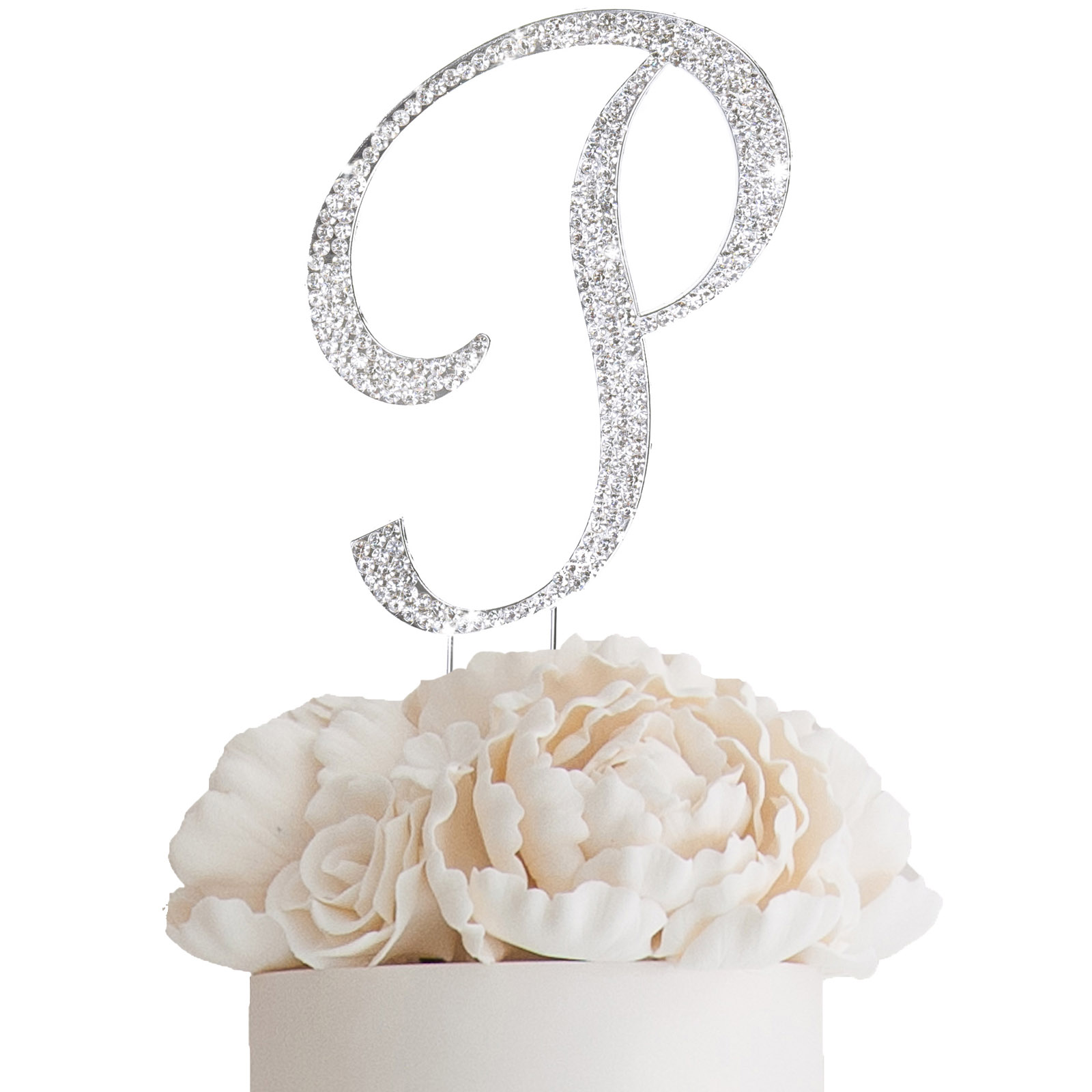 """4 5"""" tall Rhinestone Cake Topper Party Wedding Decorations"""