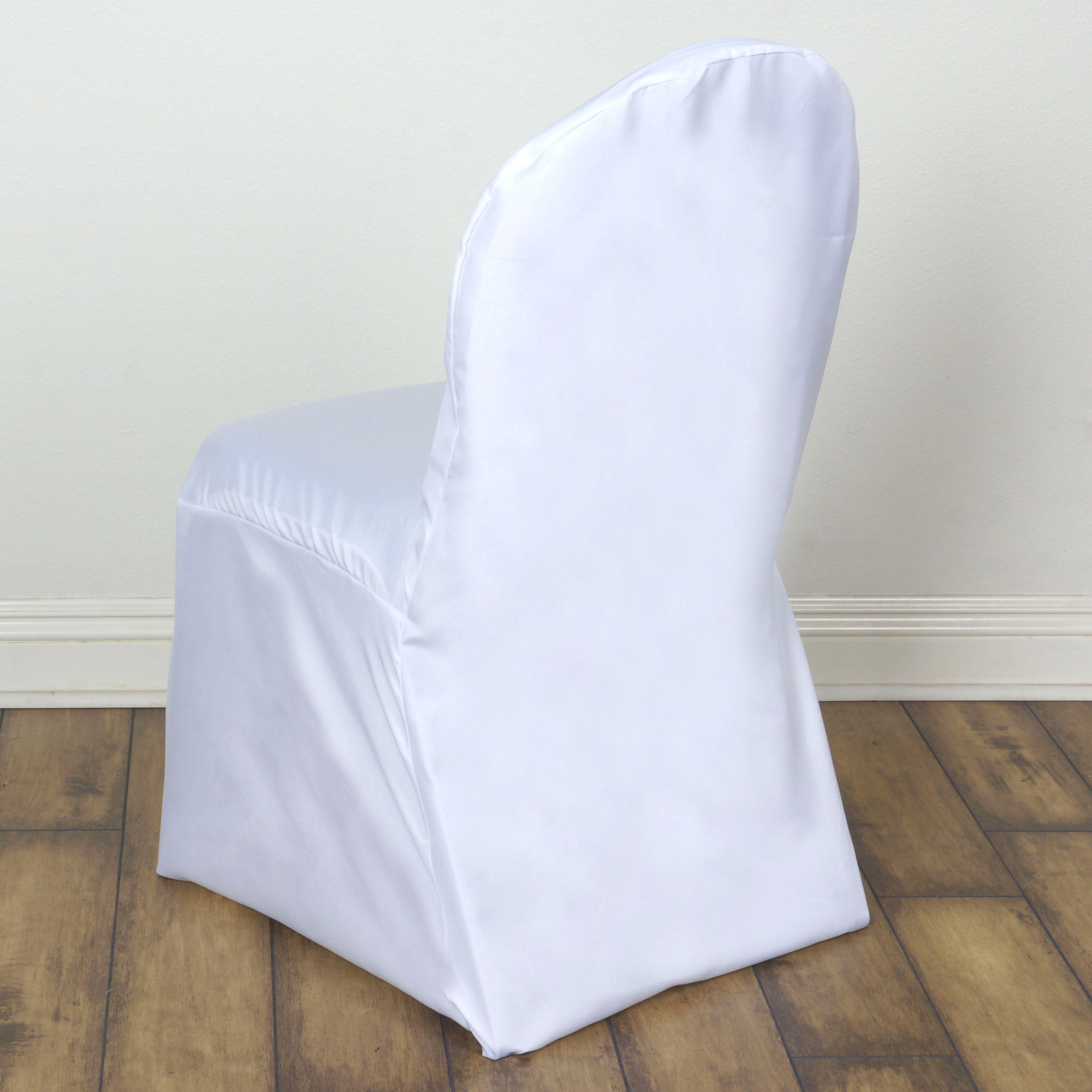 100 pcs polyester banquet chair covers wedding reception party supplies sale