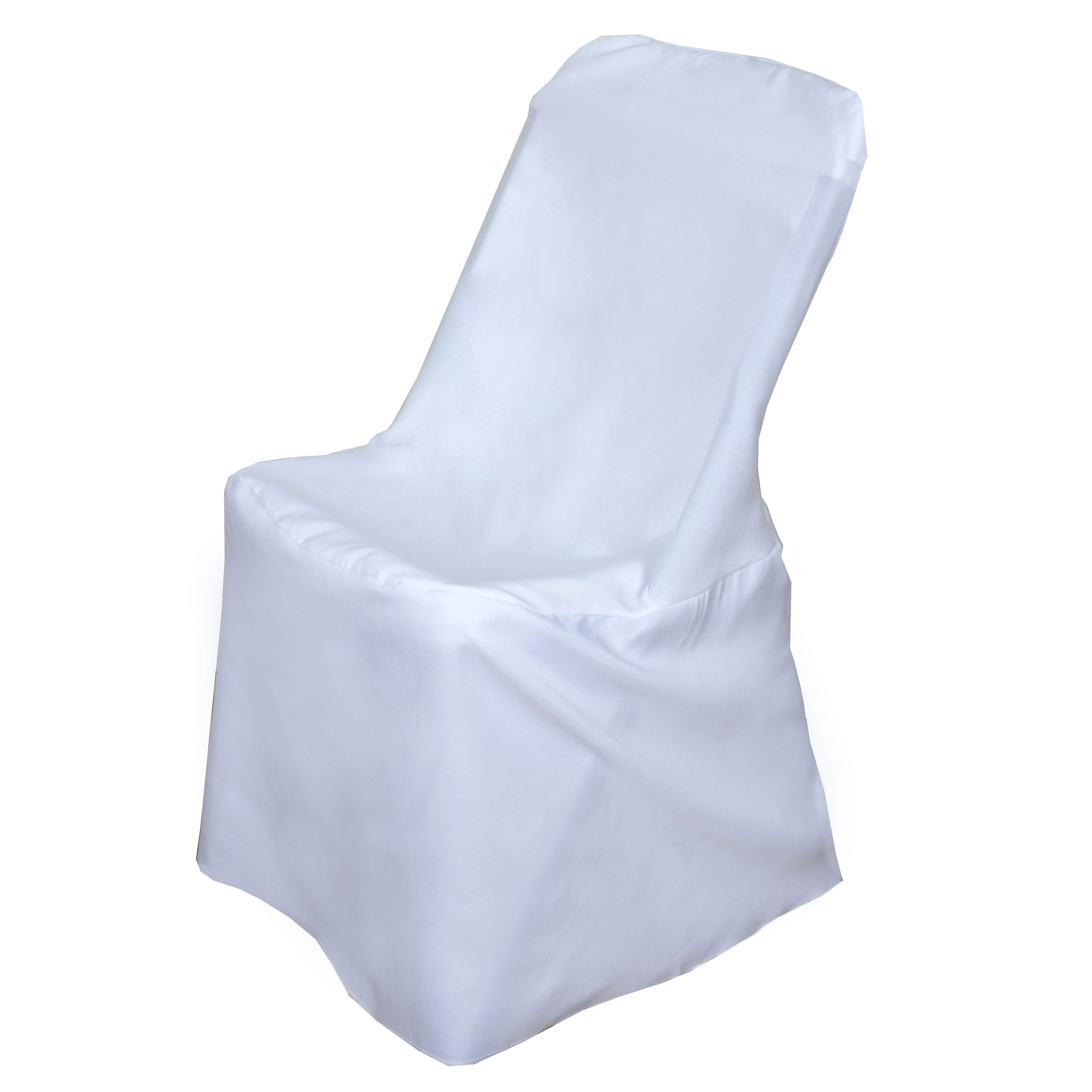 150 Pcs Lifetime Folding Chair Covers Slipcovers Polyester Wedding Party Line